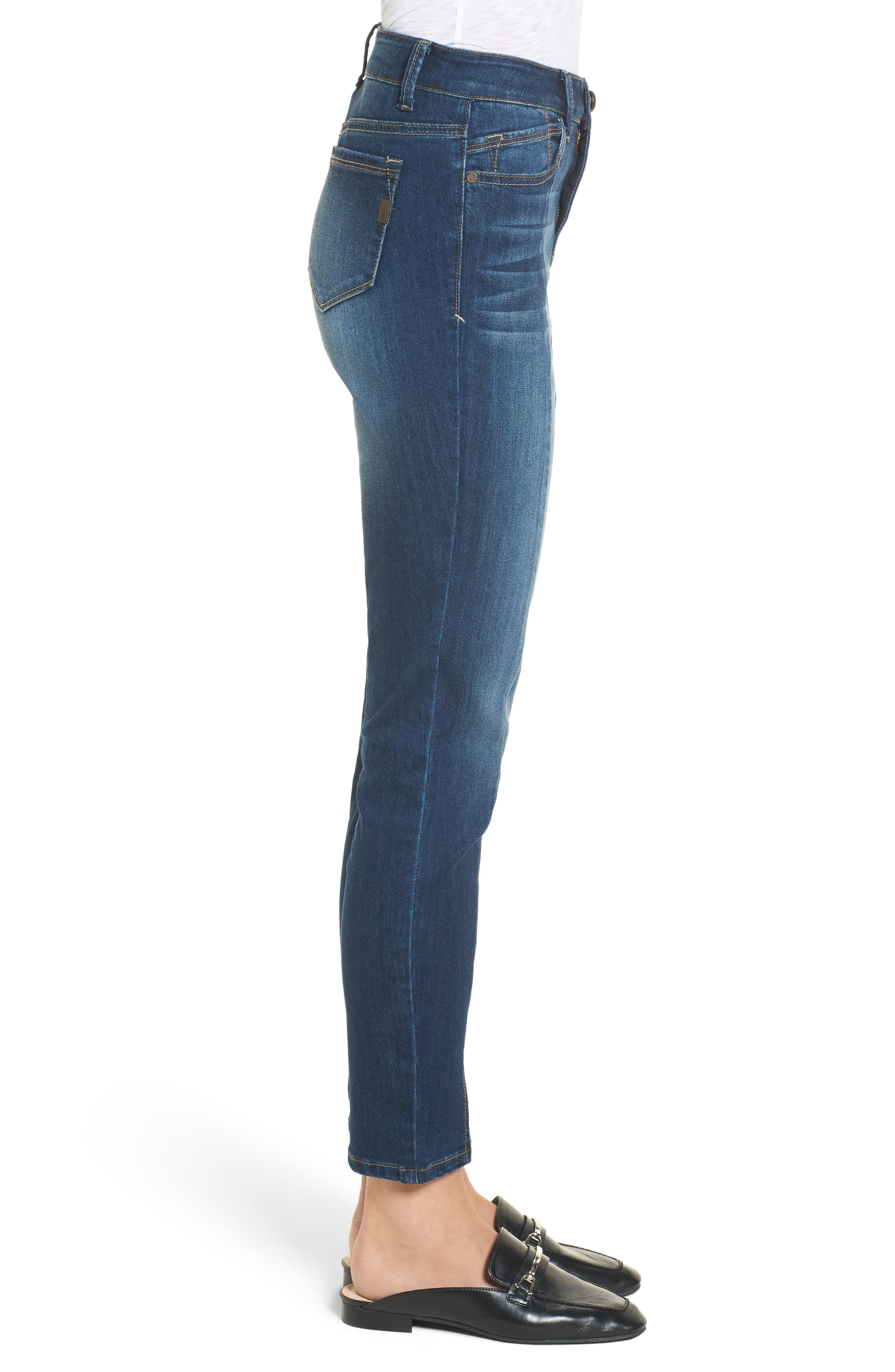 Front Seam Skinny Jeans,                             Alternate thumbnail 3, color,                             404