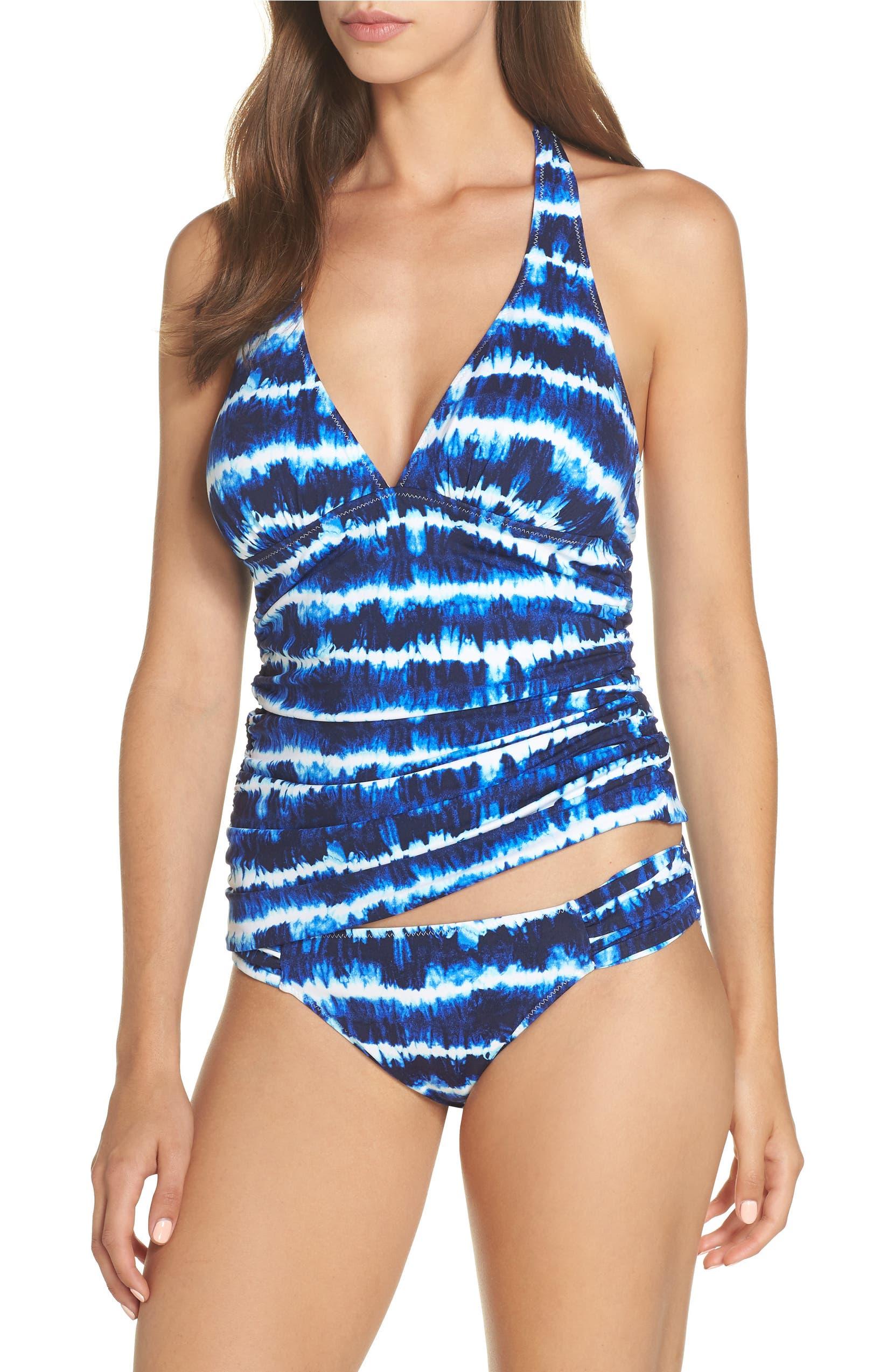 e8a8bd3c16d89 Tommy Bahama Tide Dye Stripe Reversible Tankini Top