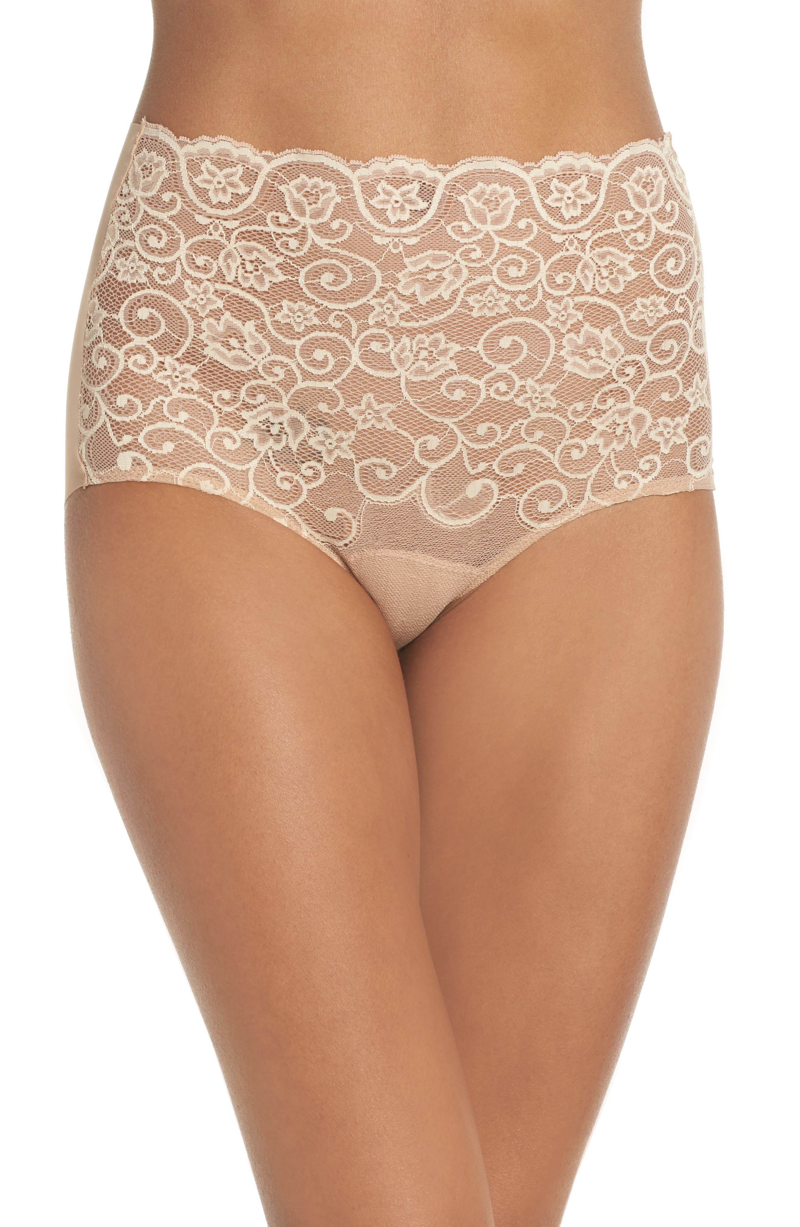 'Double Take' Lace Front High Rise Panties,                         Main,                         color, 251
