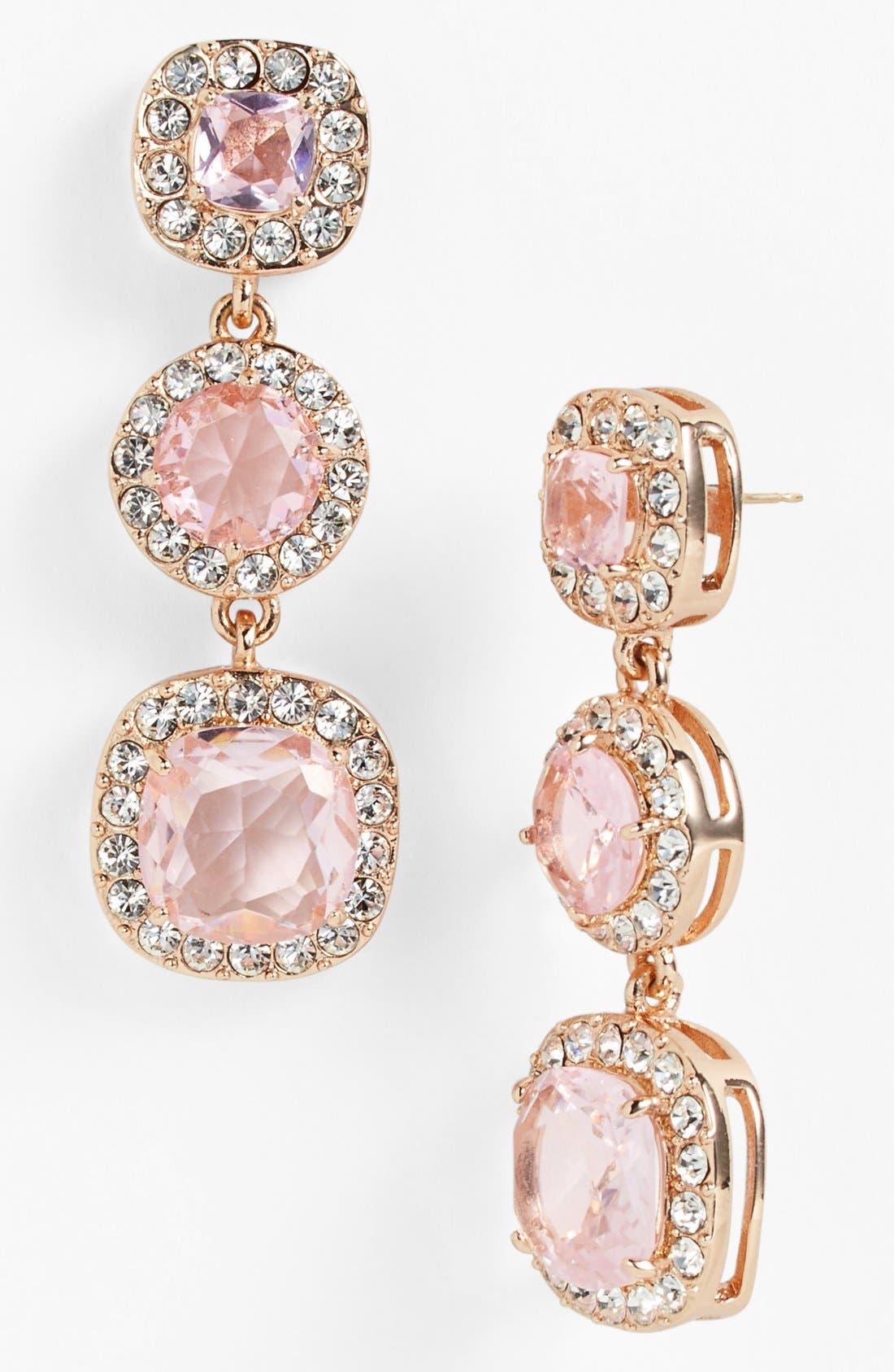 'basket pavé' linear earrings,                             Main thumbnail 1, color,                             680