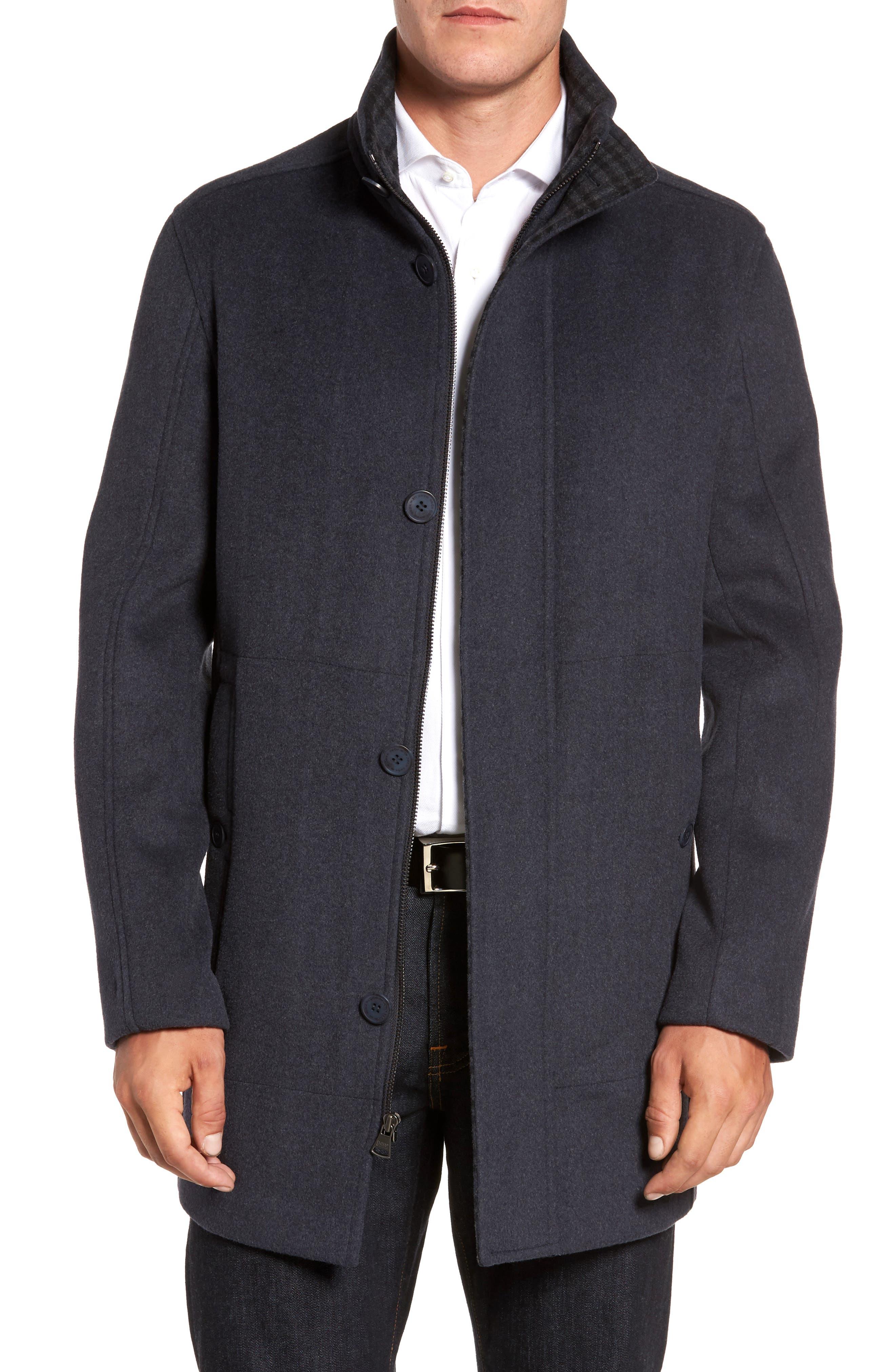 Double Face Wool Blend Car Coat,                             Main thumbnail 2, color,