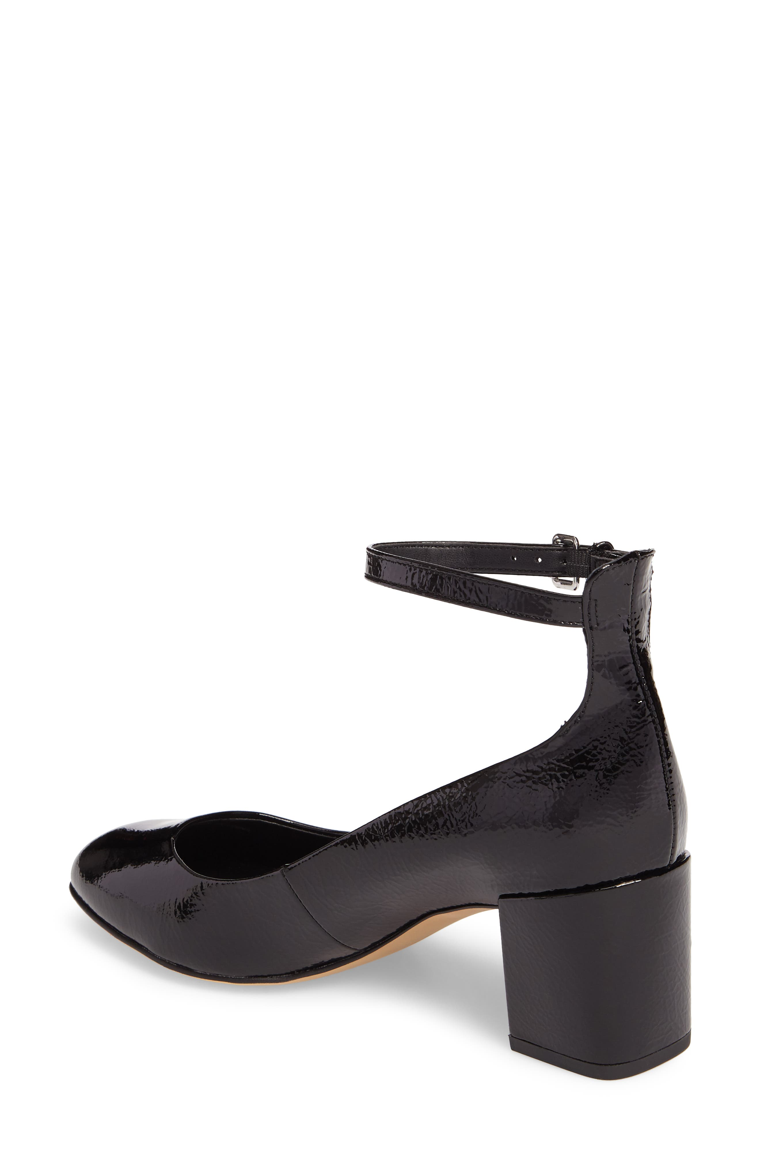 Bridget Ankle Strap Pump,                             Alternate thumbnail 2, color,                             001