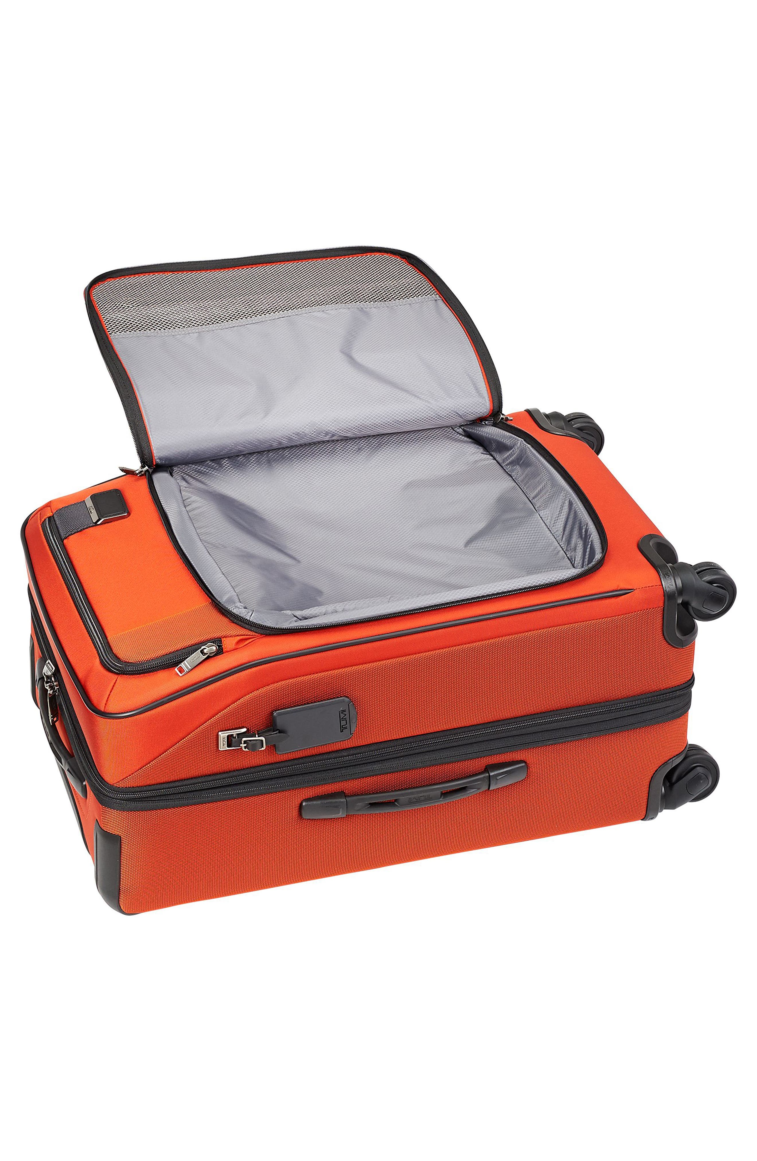 Merge - Short Trip Expandable Rolling Suitcase,                             Alternate thumbnail 5, color,                             SUNSET RED