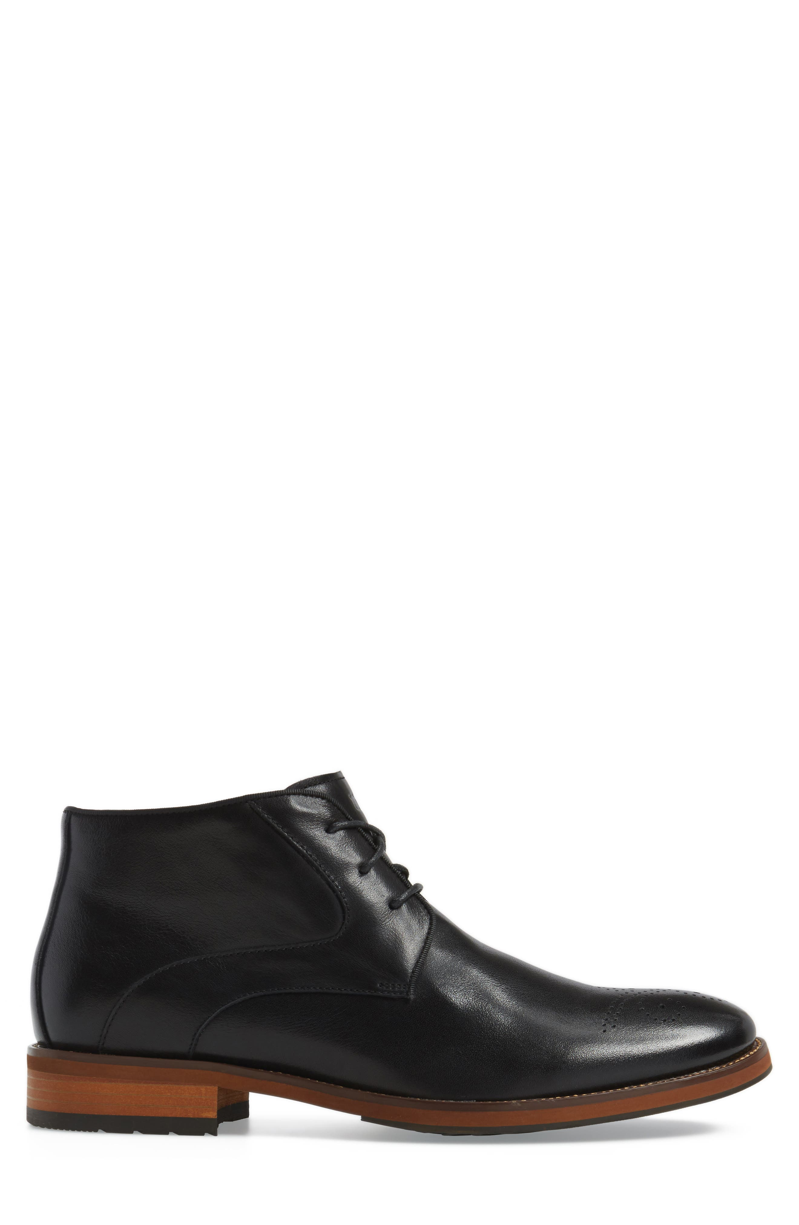 Blaze Chukka Boot,                             Alternate thumbnail 3, color,                             BLACK LEATHER