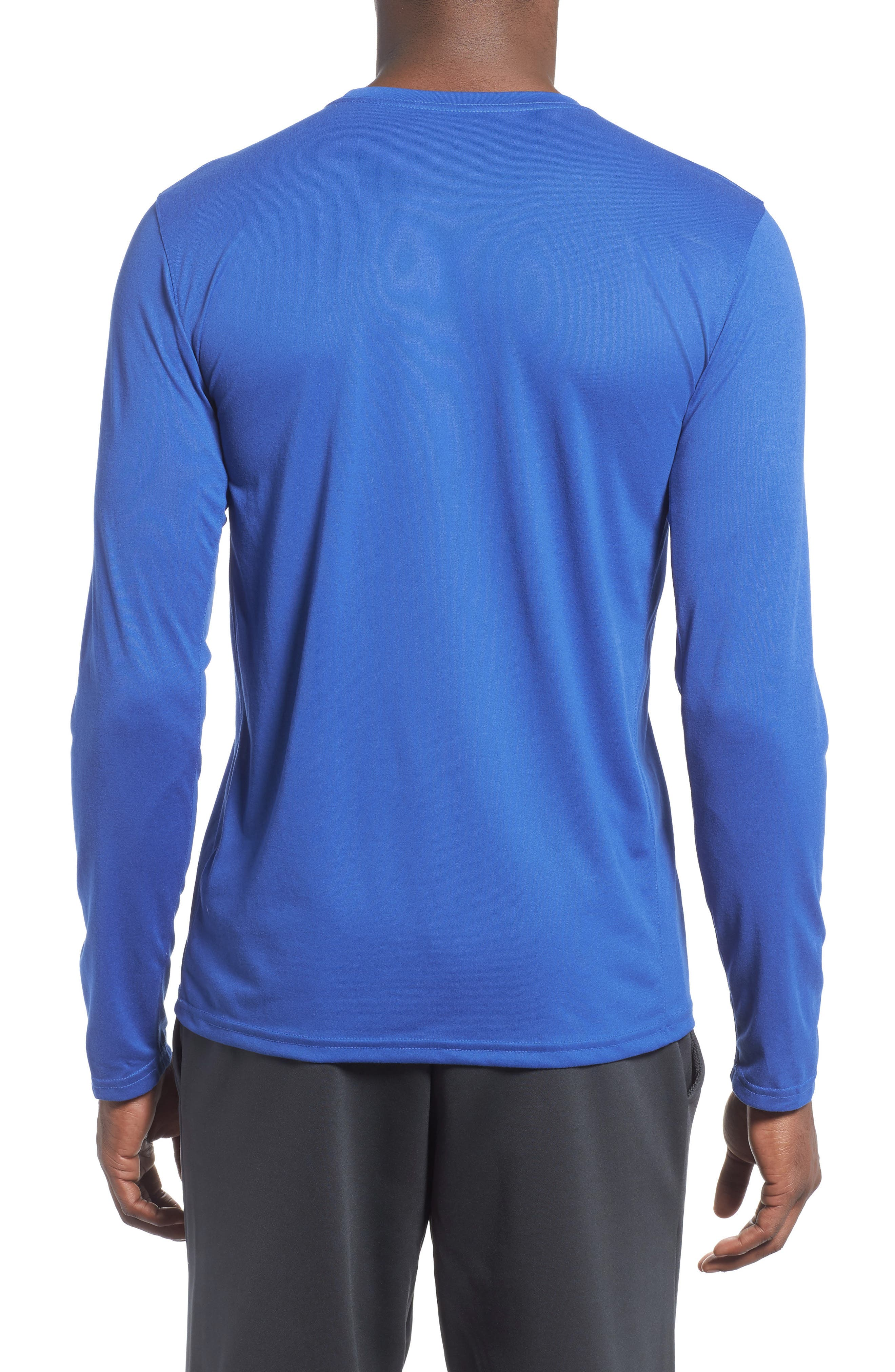 'Legend 2.0' Long Sleeve Dri-FIT Training T-Shirt,                             Alternate thumbnail 2, color,                             GAME ROYAL/ BLACK