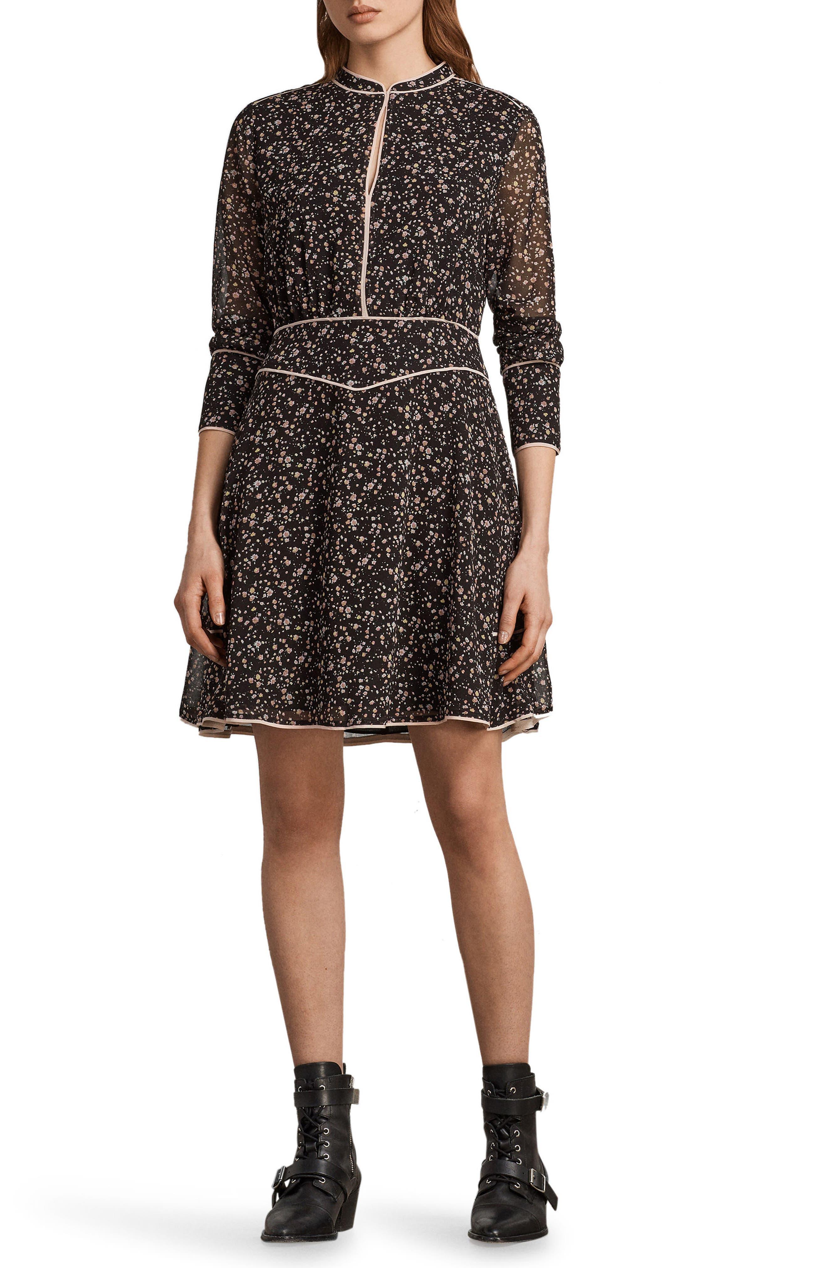 Kay Pepper Floral Print Dress,                         Main,                         color, 001