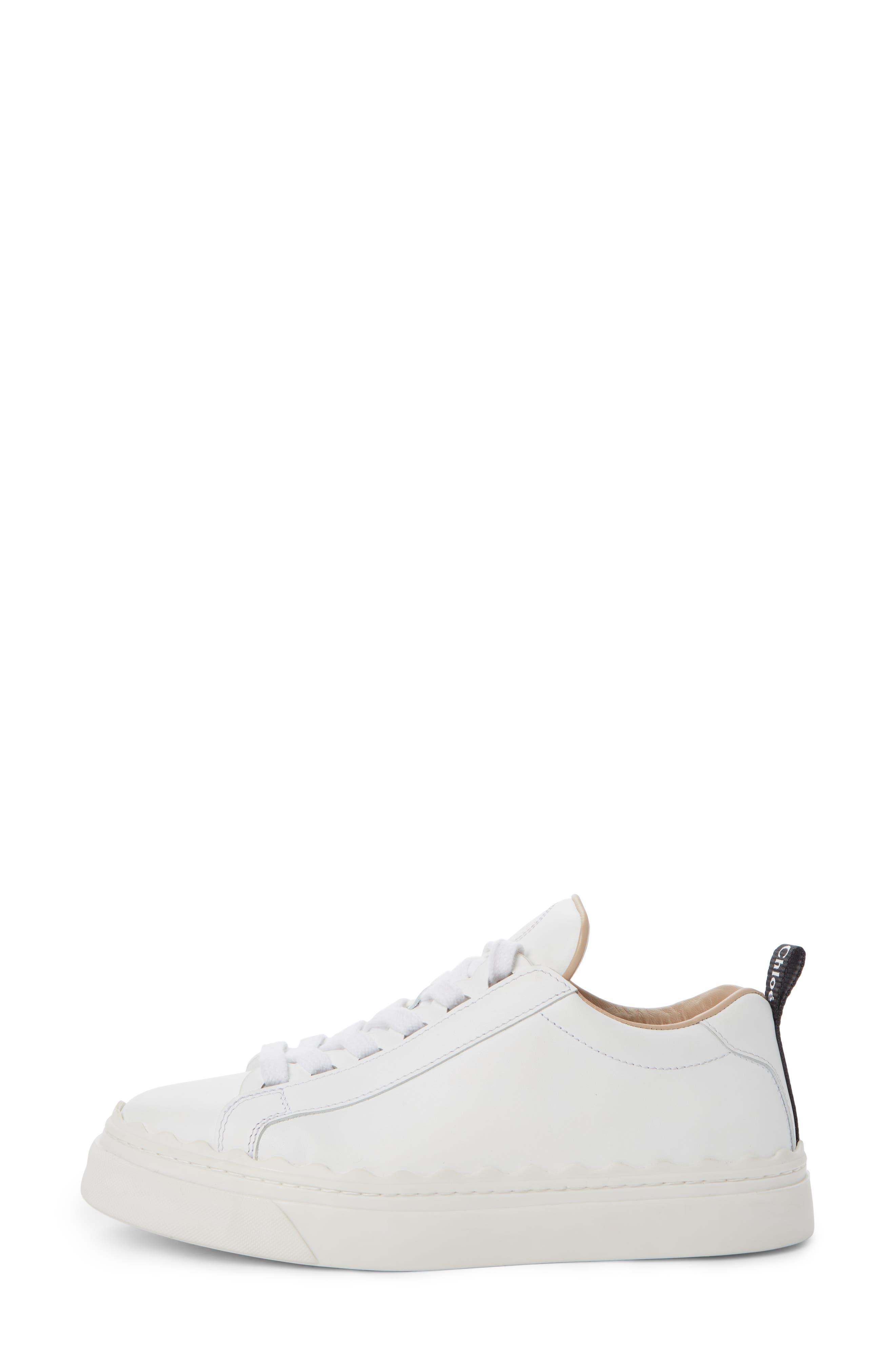 Lauren Sneaker,                             Alternate thumbnail 3, color,                             WHITE LEATHER