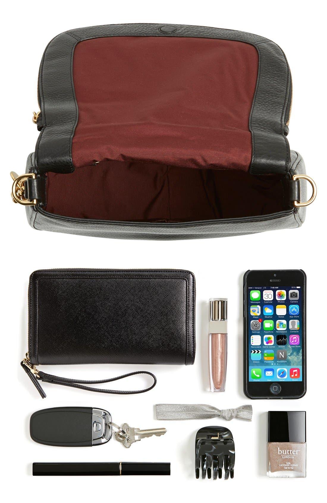 Recruit Nomad Pebbled Leather Crossbody Bag,                             Alternate thumbnail 8, color,                             538