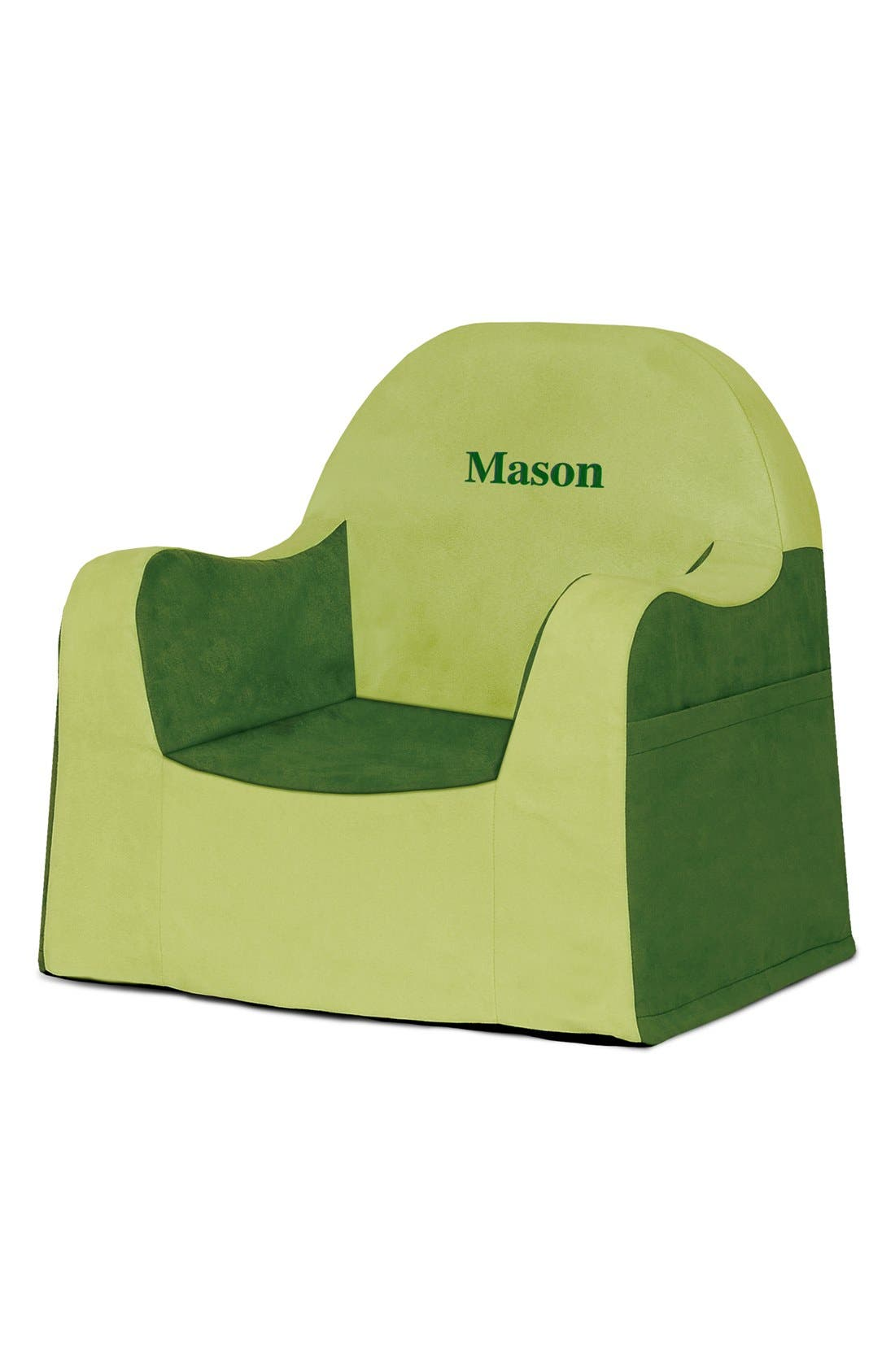 'Personalized Little Reader' Chair,                             Main thumbnail 1, color,                             GREEN
