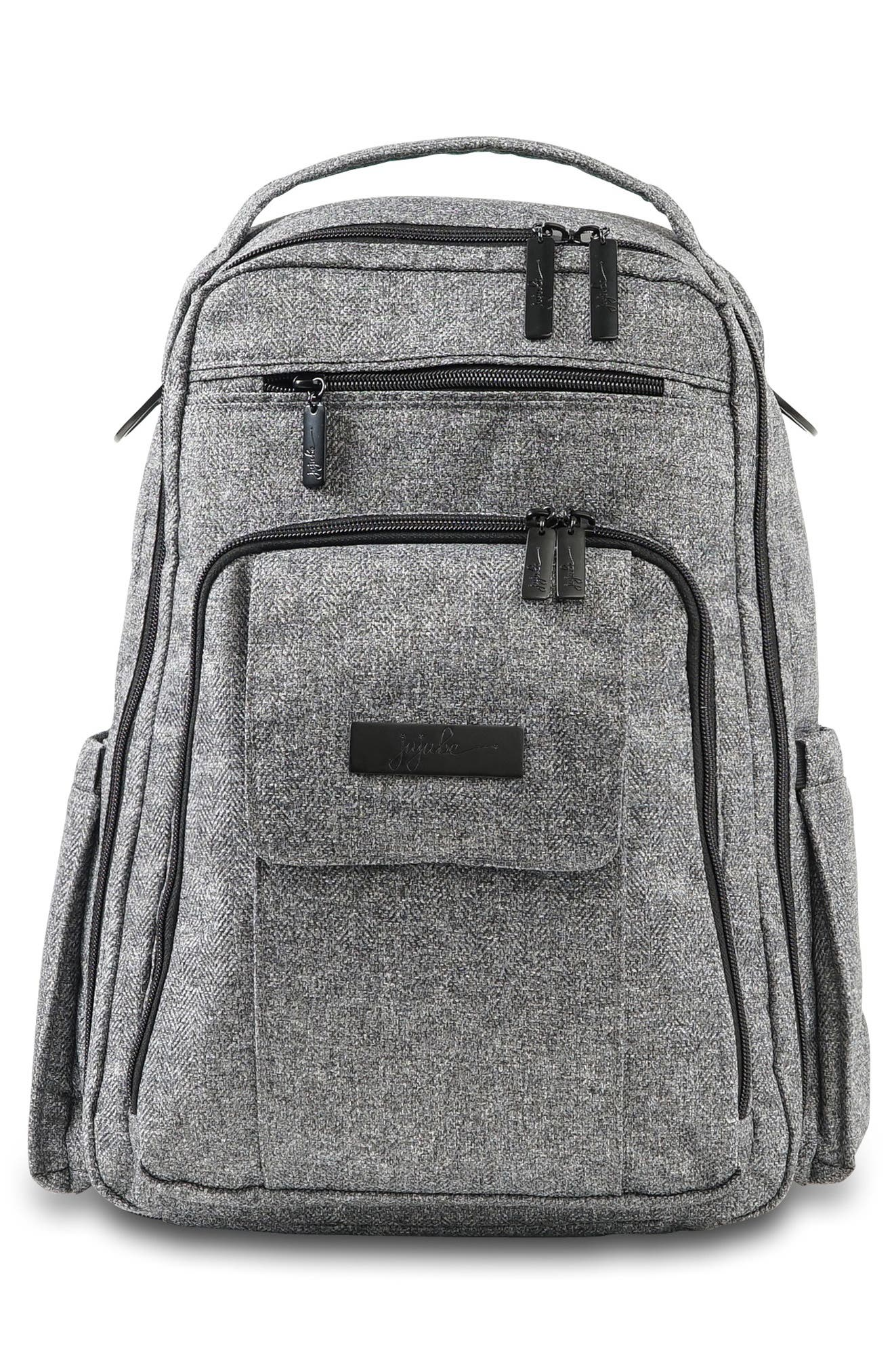 'Be Right Back - Onyx Collection' Diaper Backpack,                             Main thumbnail 1, color,                             GRAY MATTER