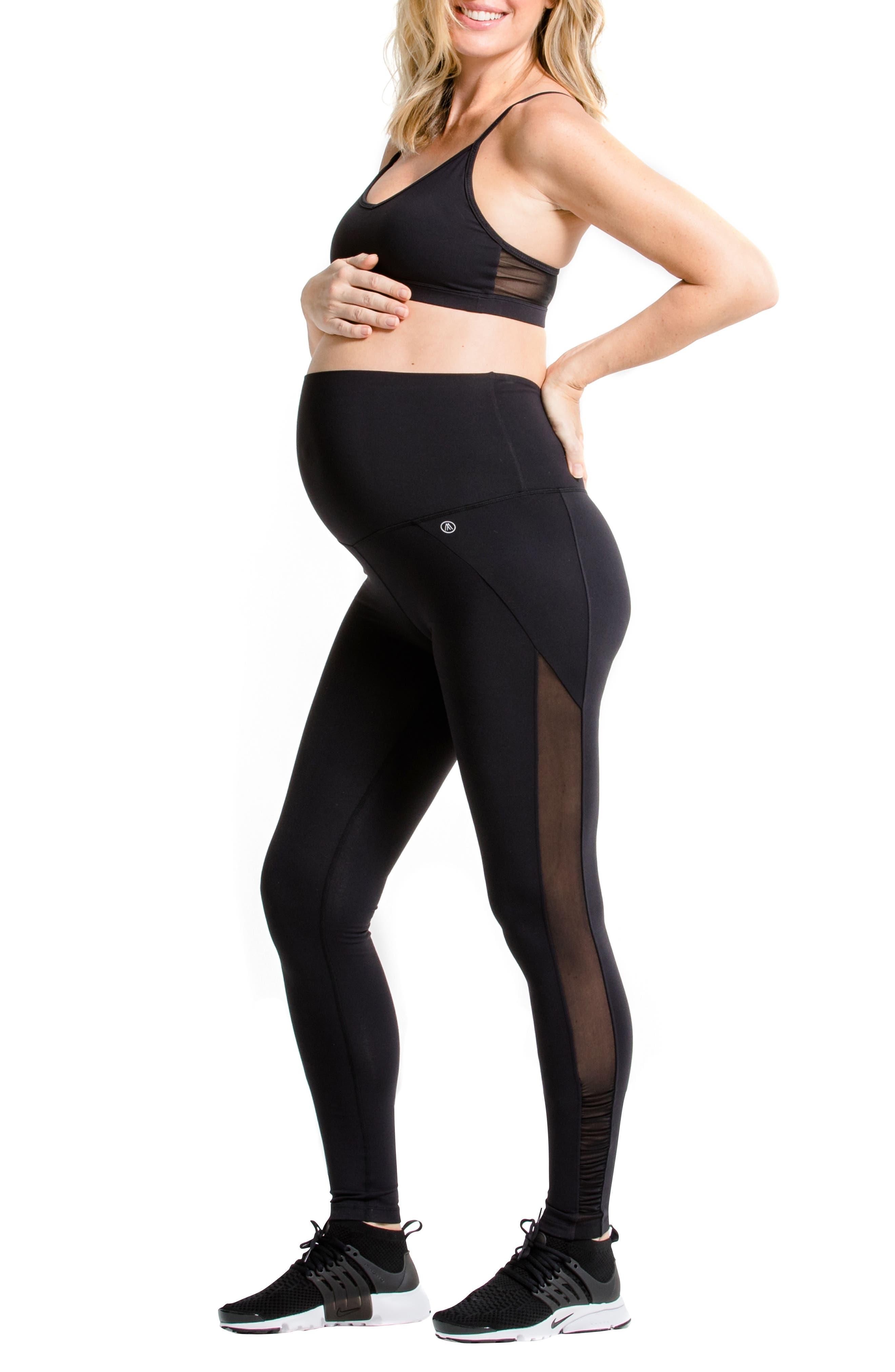 Juno Maternity Leggings,                             Main thumbnail 1, color,                             BLACK
