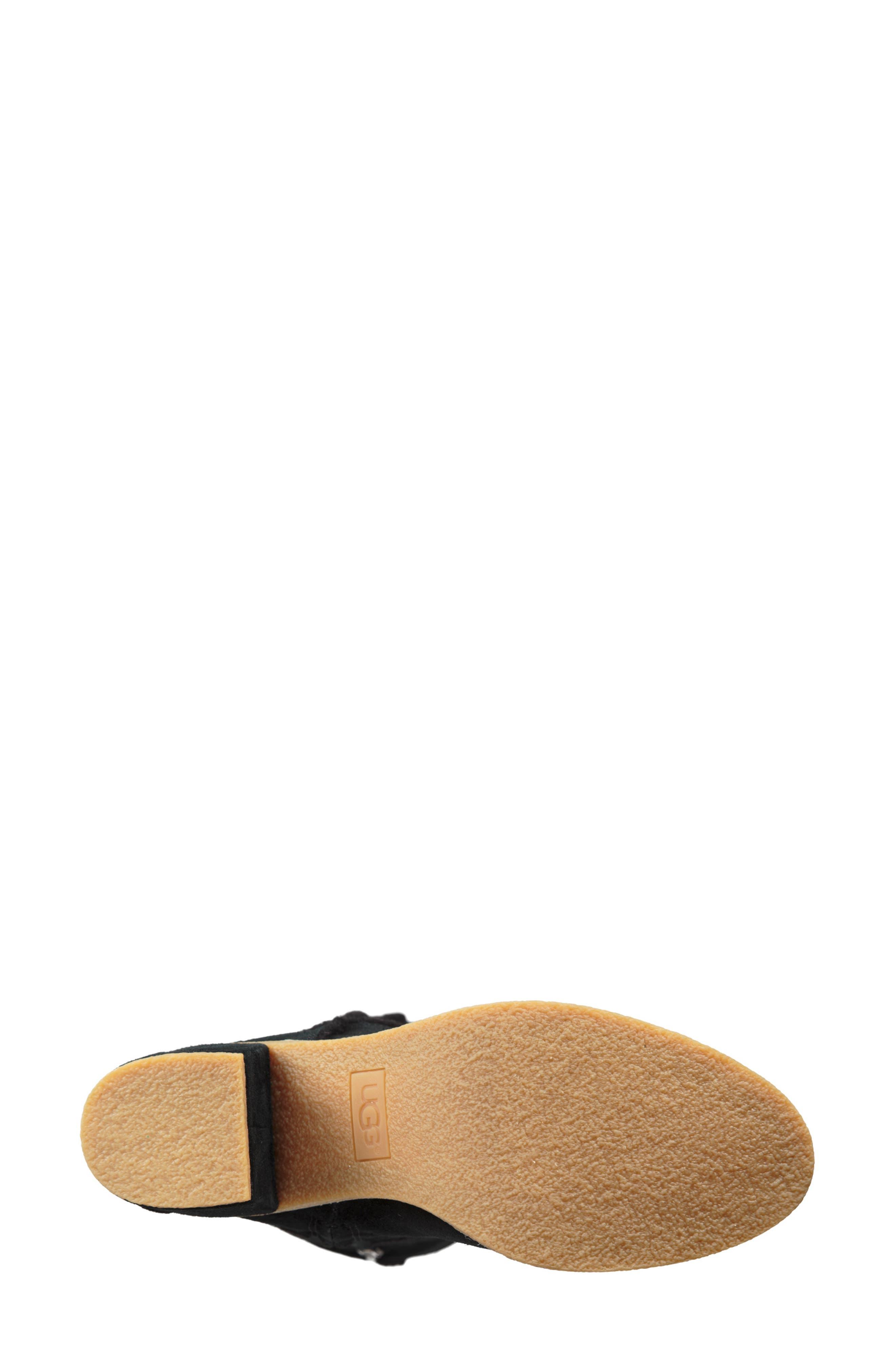 Kasen II Knee High Boot,                             Alternate thumbnail 5, color,                             BLACK SUEDE