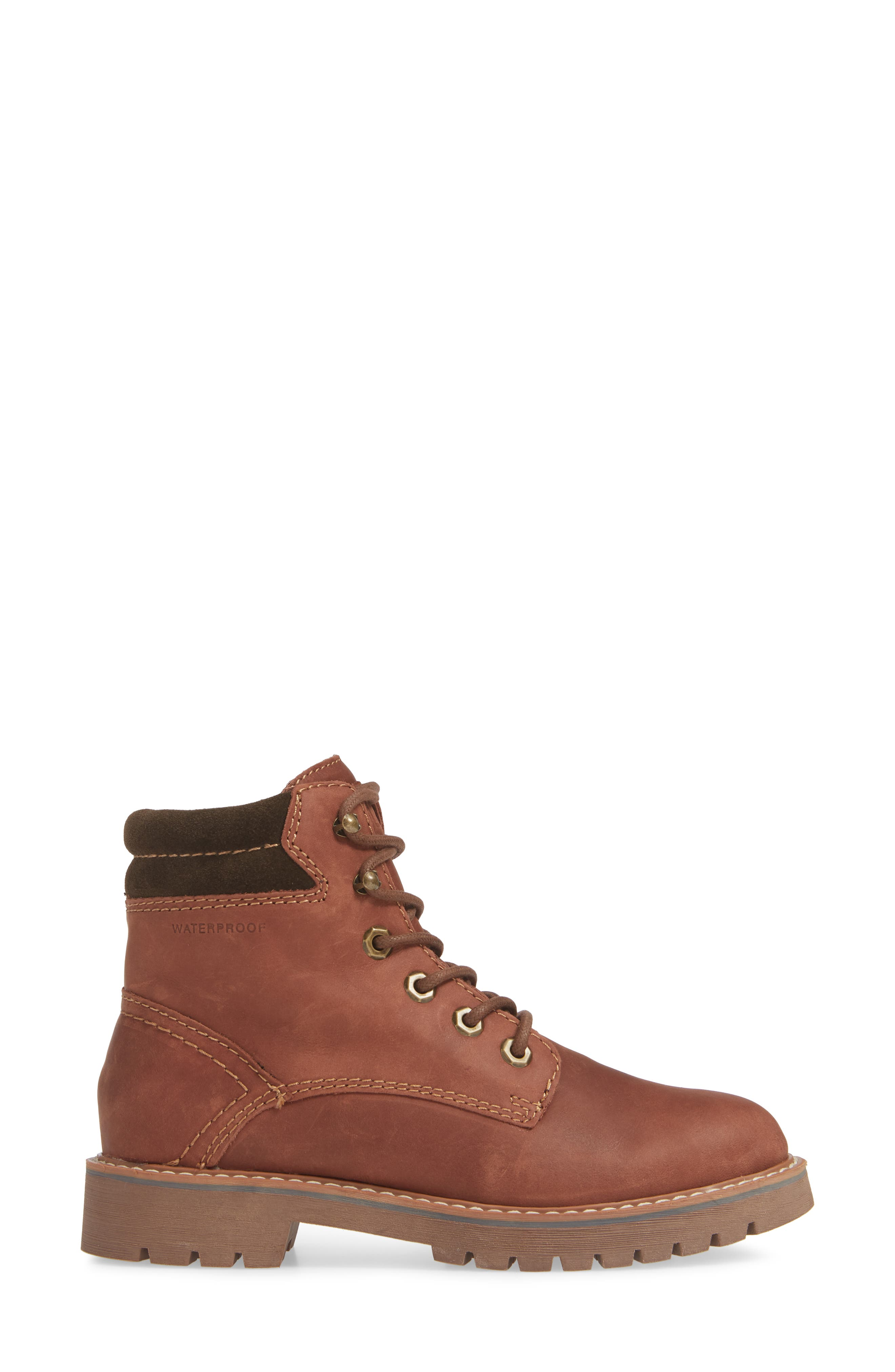 Heston Waterproof Insulated Hiking Boot,                             Alternate thumbnail 3, color,                             BROWN LEATHER