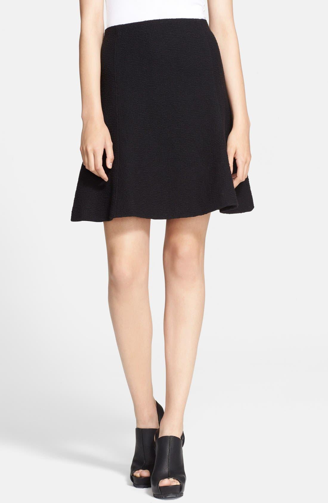Textured A-Line Skirt,                             Main thumbnail 1, color,                             001