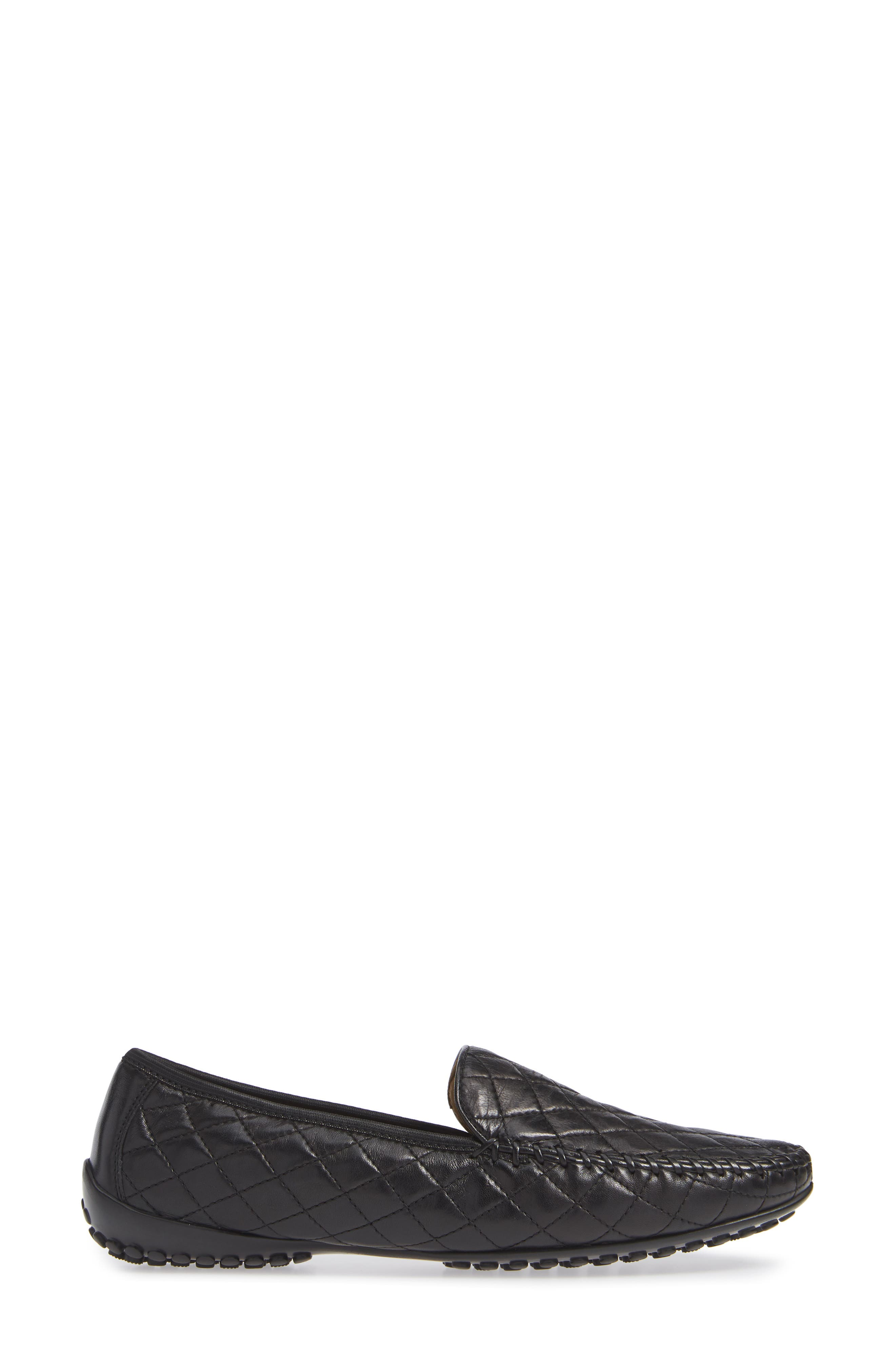 'Quana' Loafer,                             Alternate thumbnail 3, color,                             BLACK