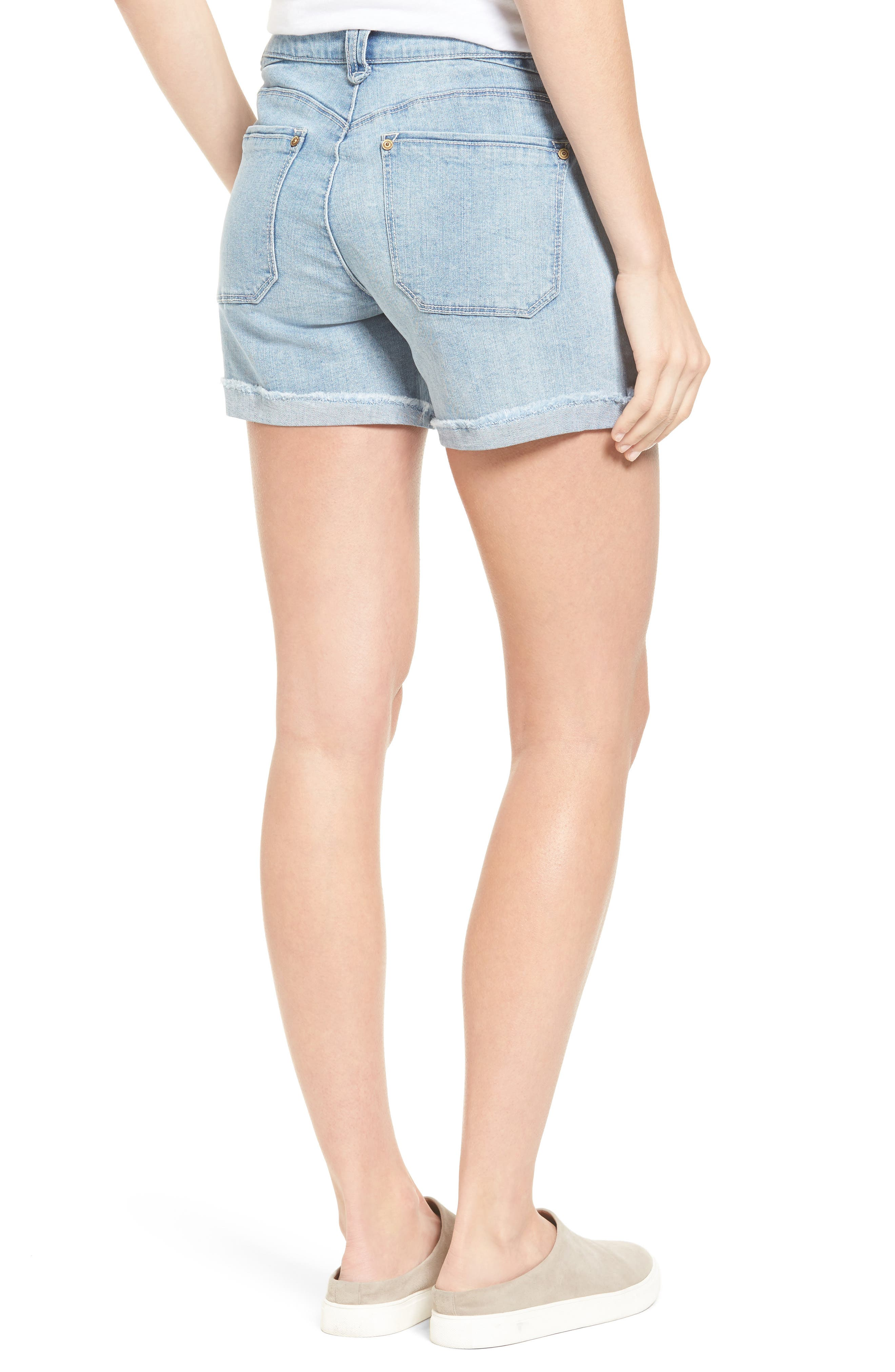 Embroidered Cutoff Shorts,                             Alternate thumbnail 2, color,                             454