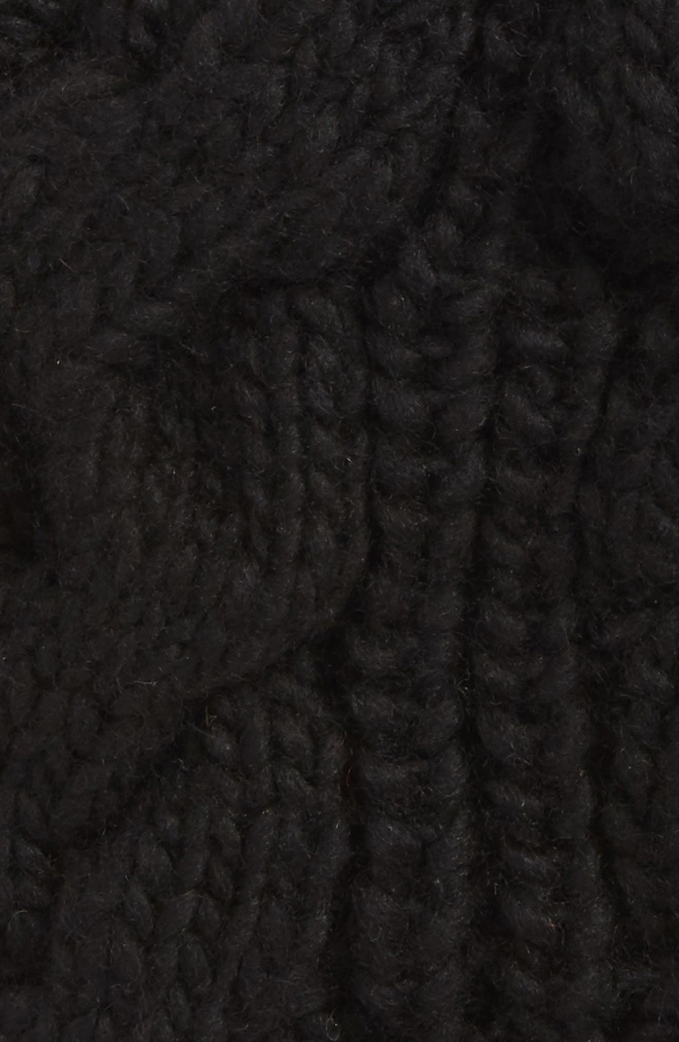Cable Knit Kitty Beanie,                             Alternate thumbnail 2, color,                             001
