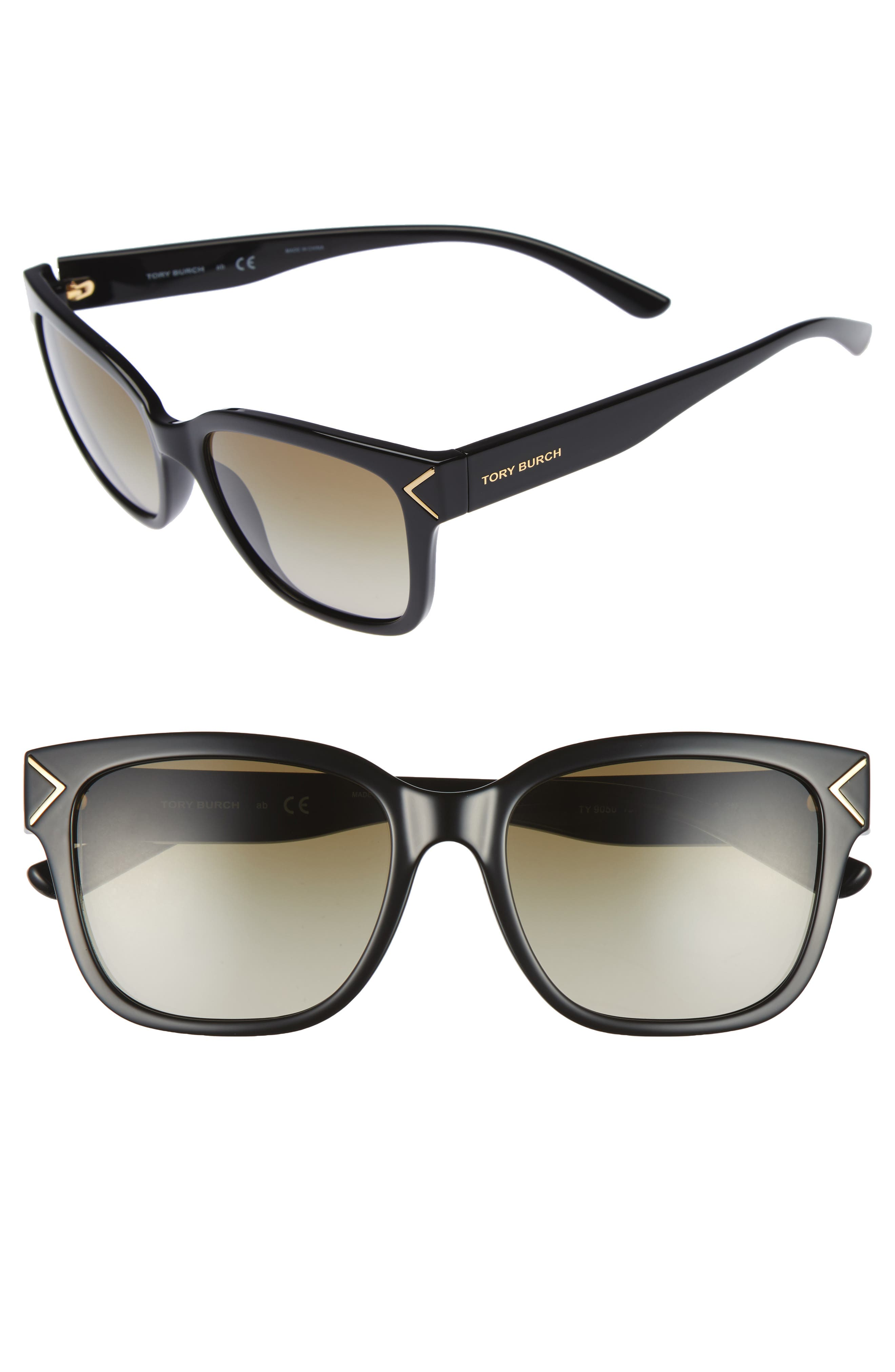 55mm Gradient Sunglasses,                         Main,                         color, 001
