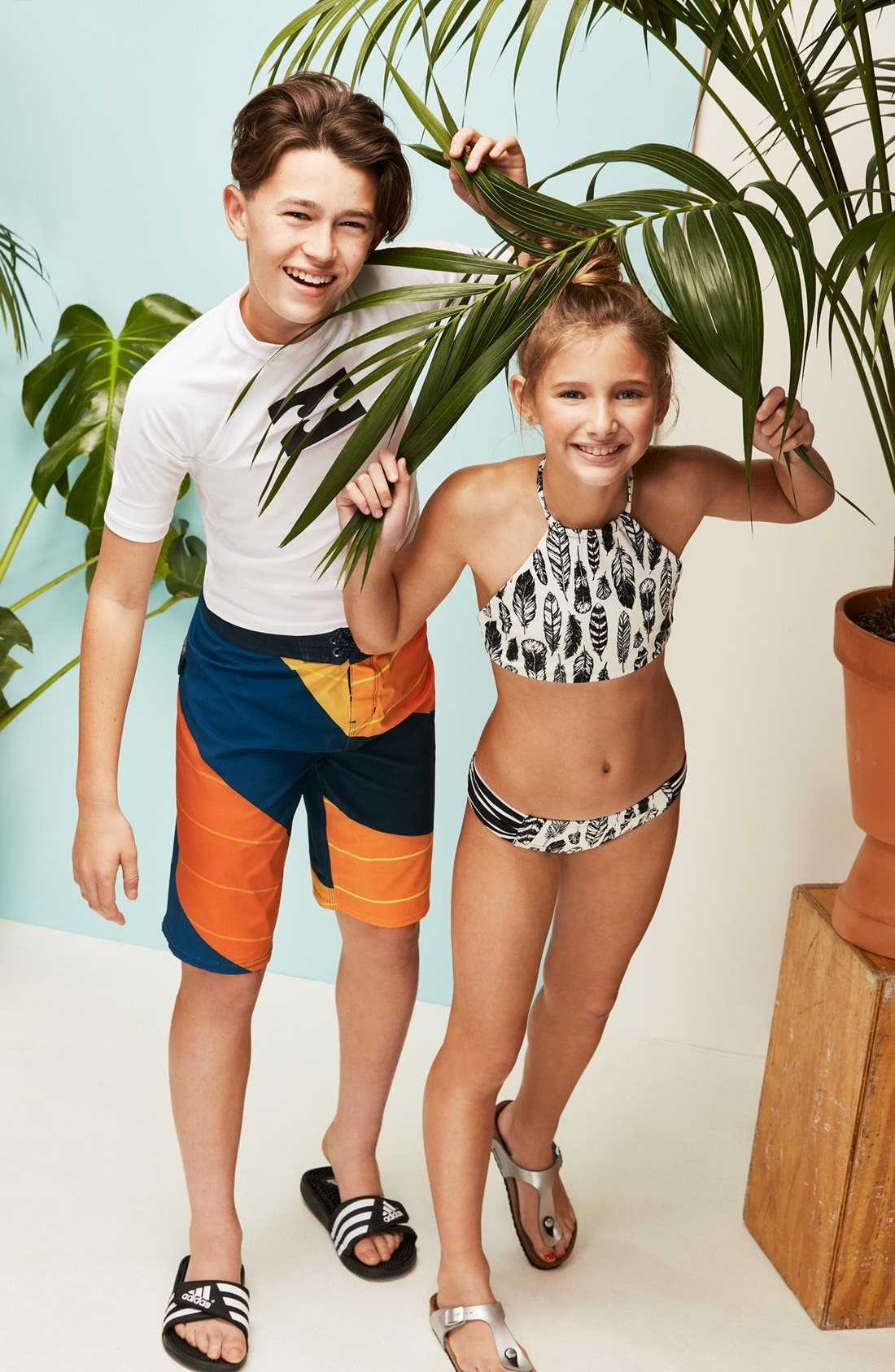 Fly Away Two-Piece Reversible Swimsuit,                             Alternate thumbnail 3, color,                             160