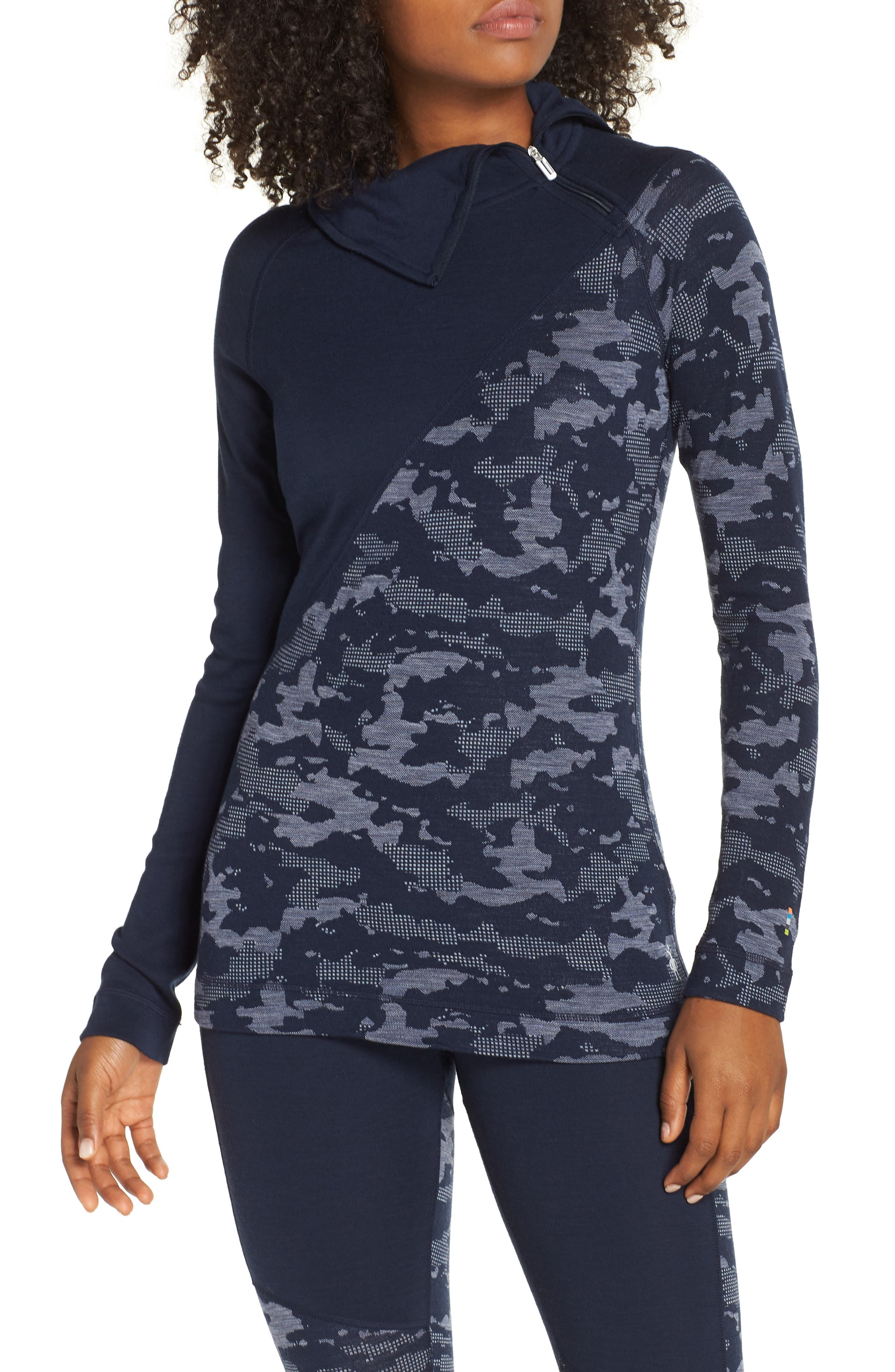 Merino 250 Asymmetrical Zip Top,                         Main,                         color, 410