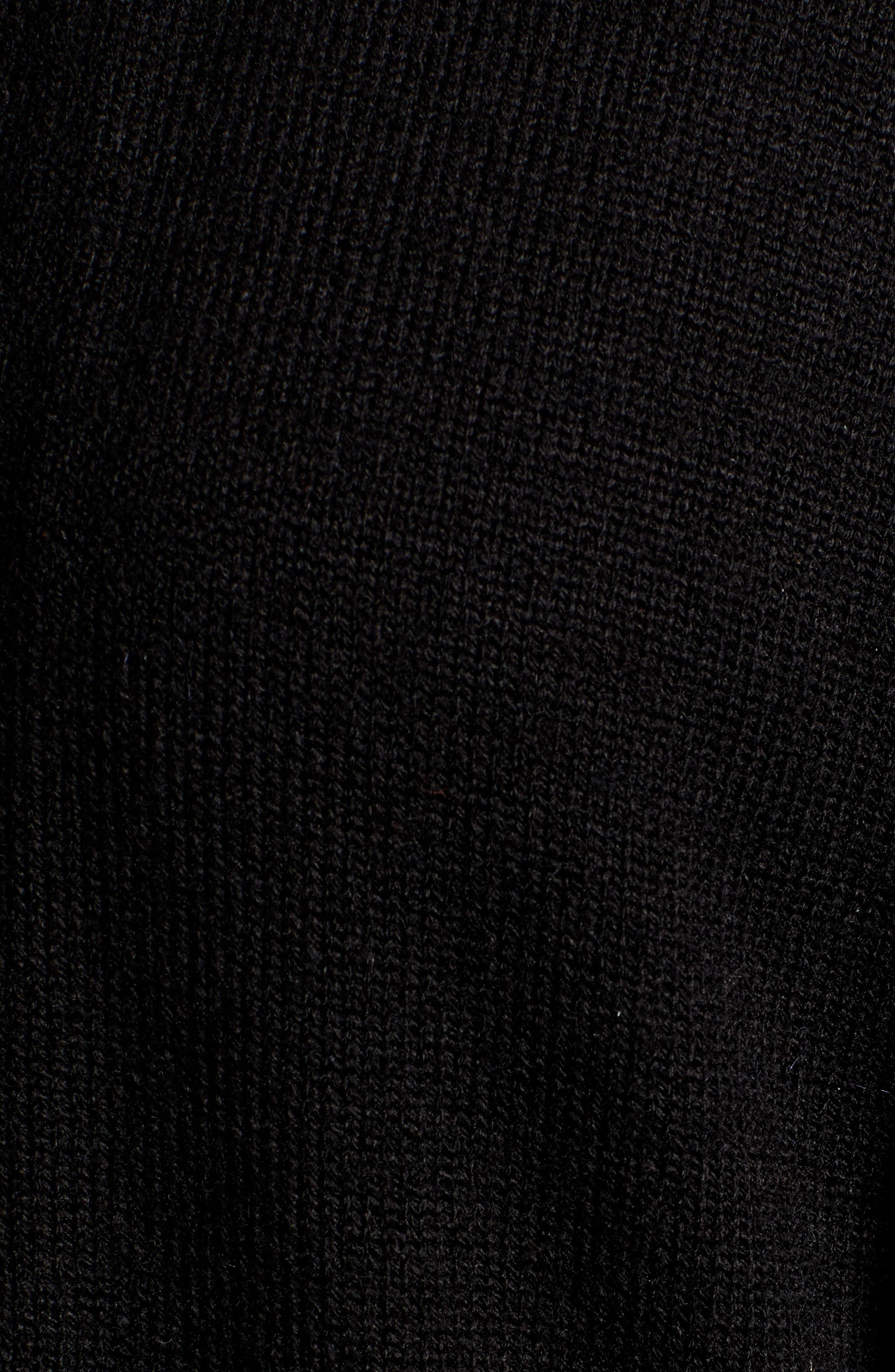 Tie Ruana,                             Alternate thumbnail 5, color,                             BLACK