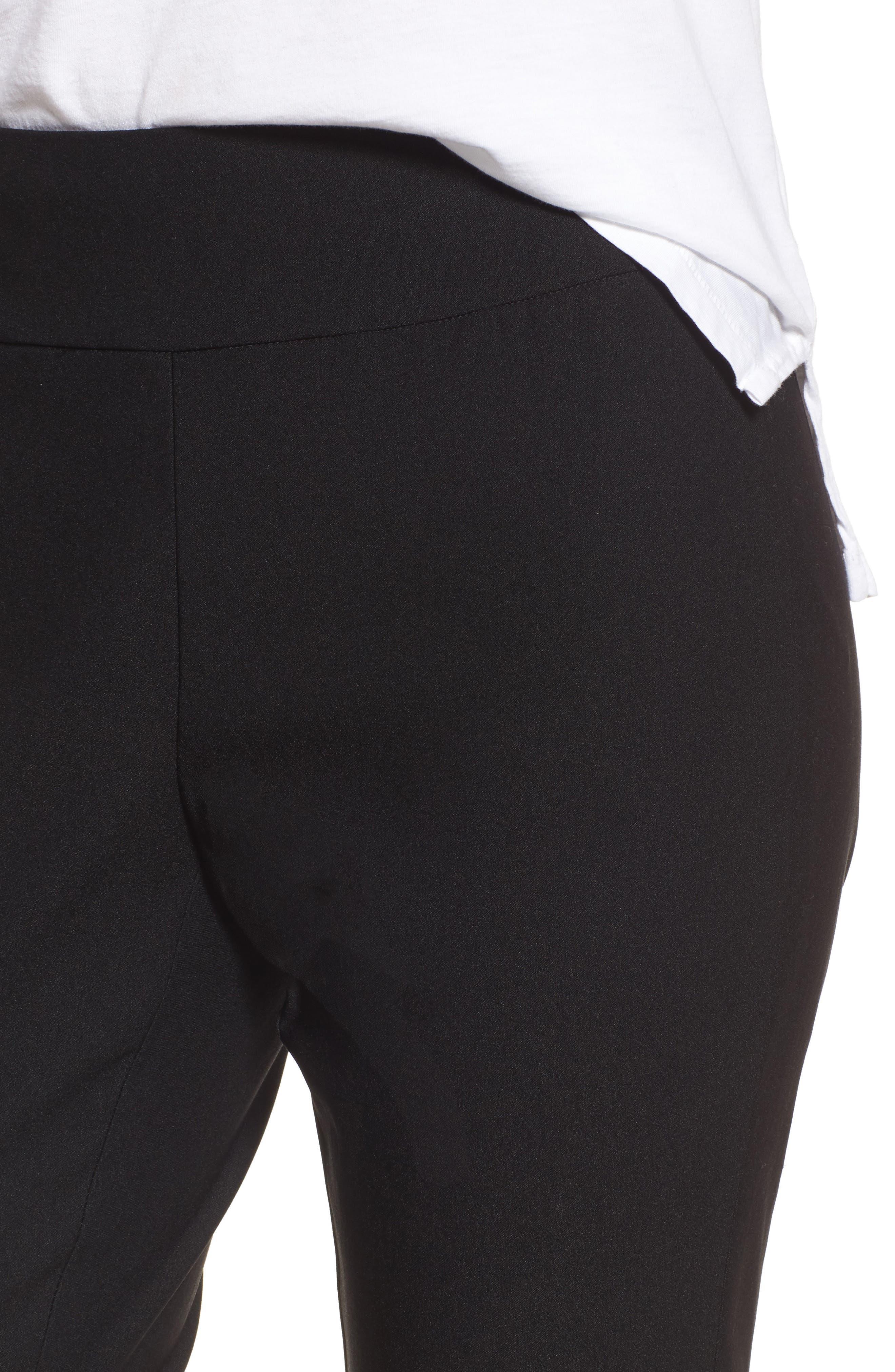 Wonder Stretch Crop Pants,                             Alternate thumbnail 4, color,                             BLACK ONYX