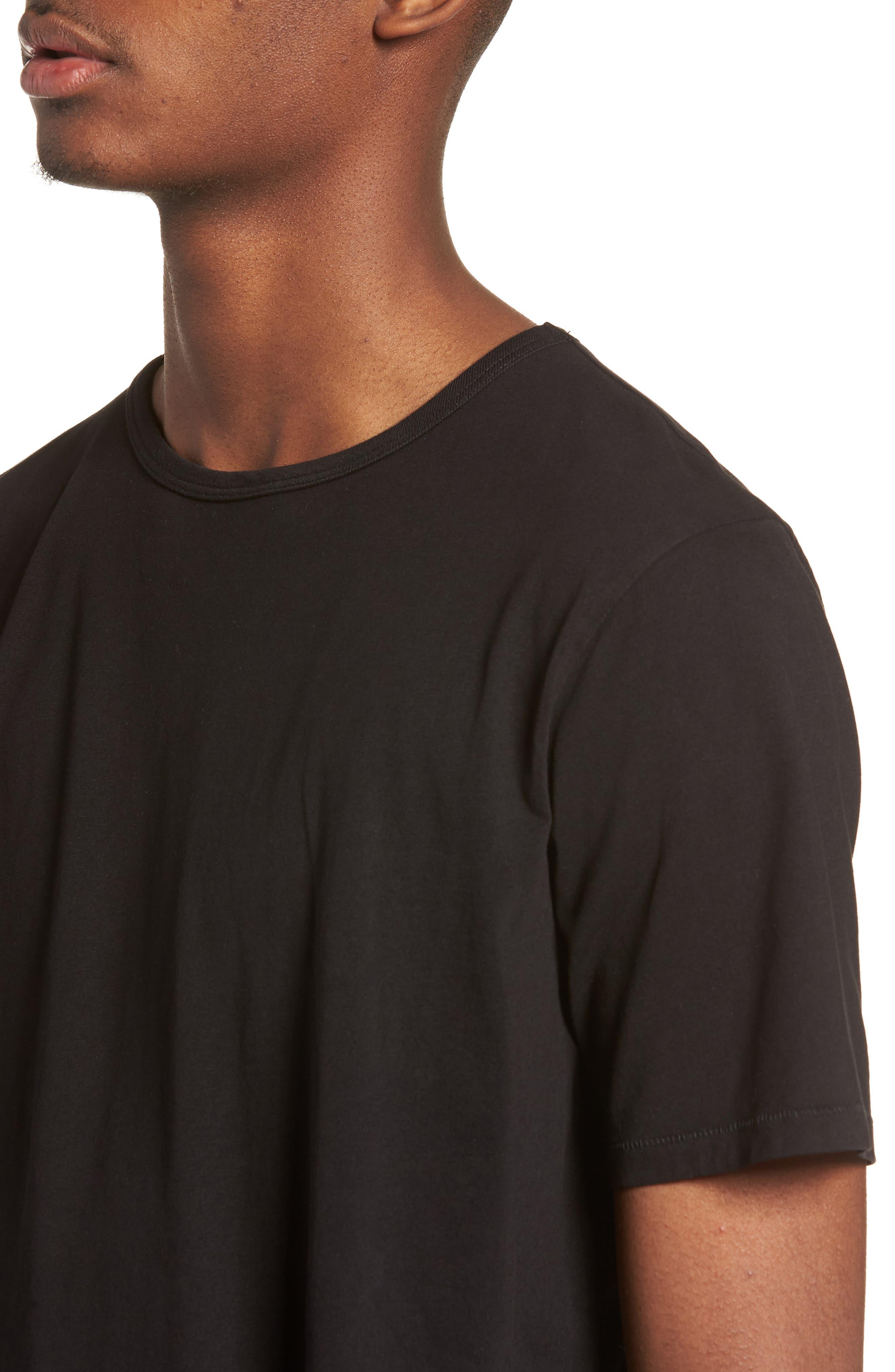 Brandon Pima T-Shirt,                             Alternate thumbnail 4, color,                             BLACK
