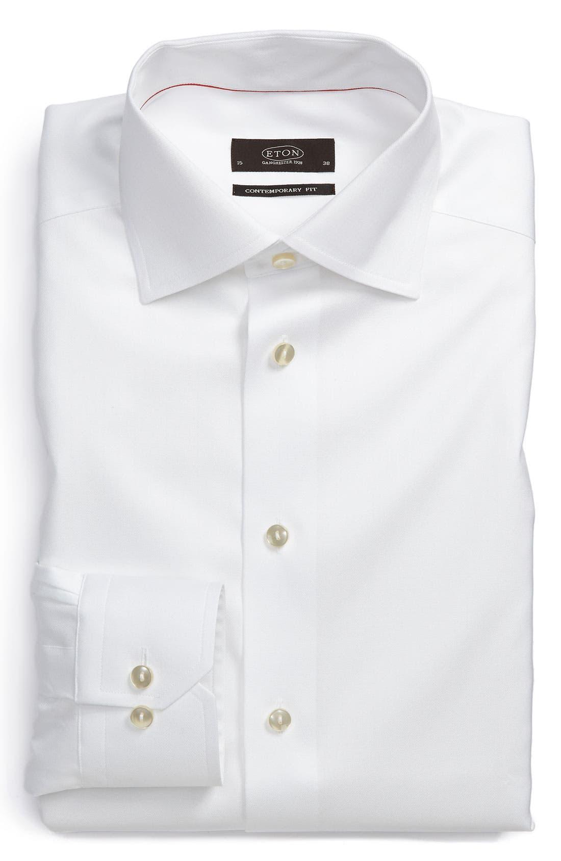 Contemporary Fit Dress Shirt,                             Main thumbnail 1, color,                             100