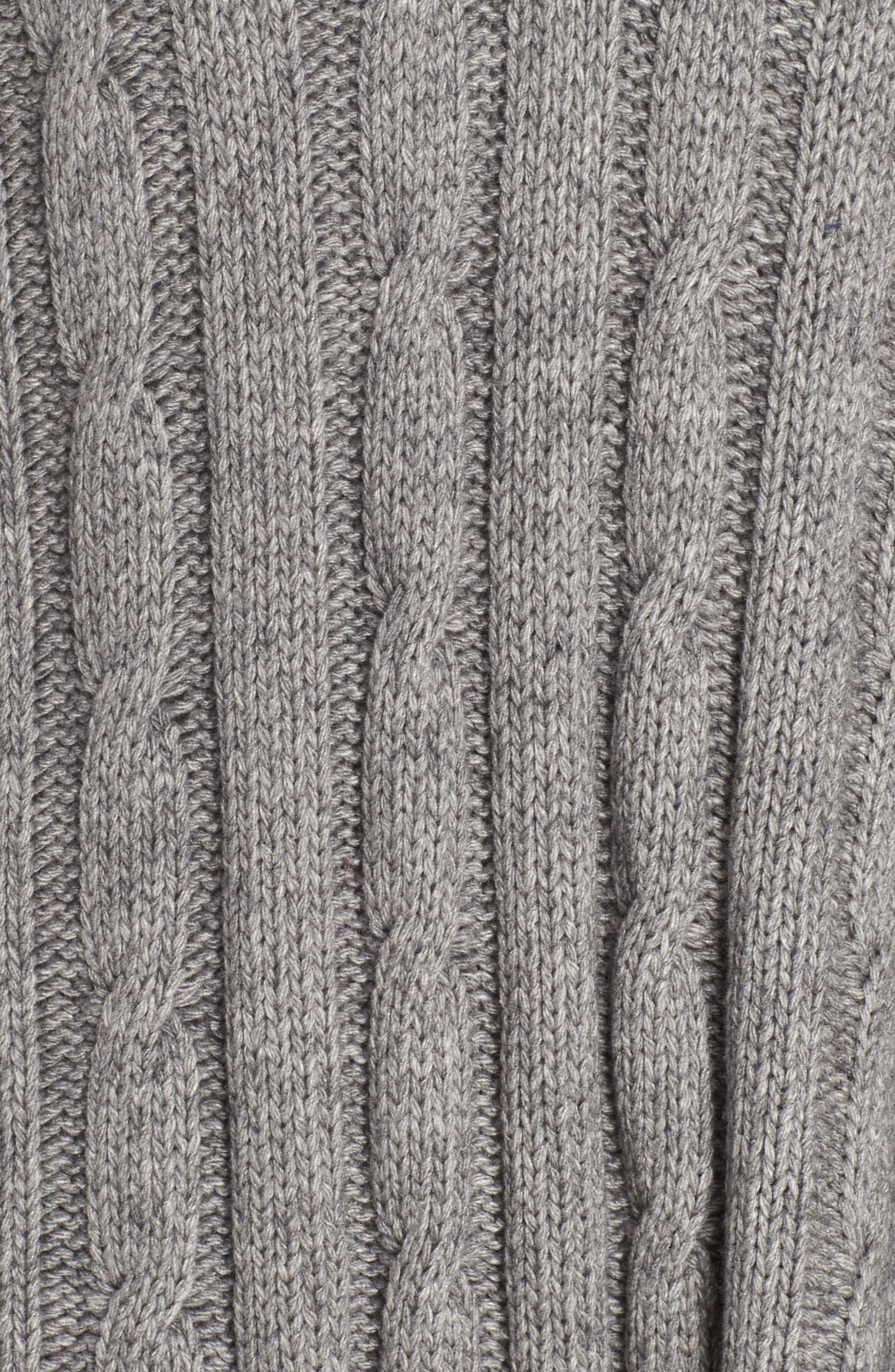 Weslynn Poncho Sweater,                             Alternate thumbnail 5, color,                             GREY HEATHER