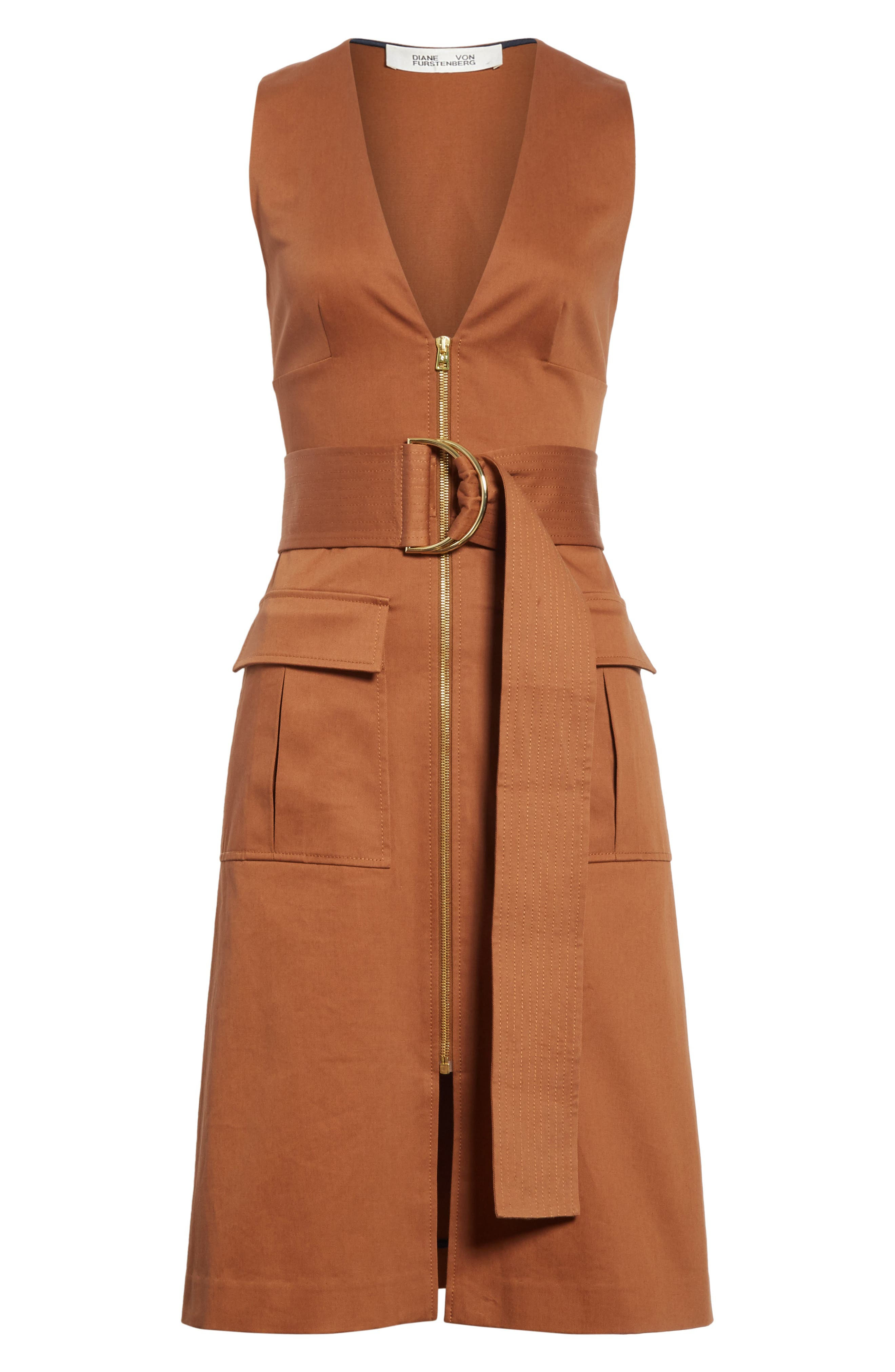 Diane von Furstenberg Zip Front Dress,                             Alternate thumbnail 6, color,                             203