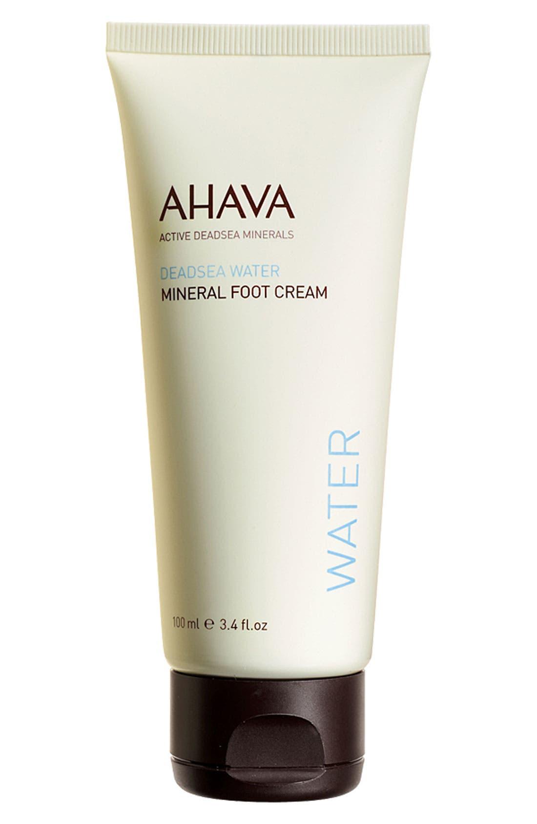 AHAVA,                             Mineral Foot Cream,                             Main thumbnail 1, color,                             000