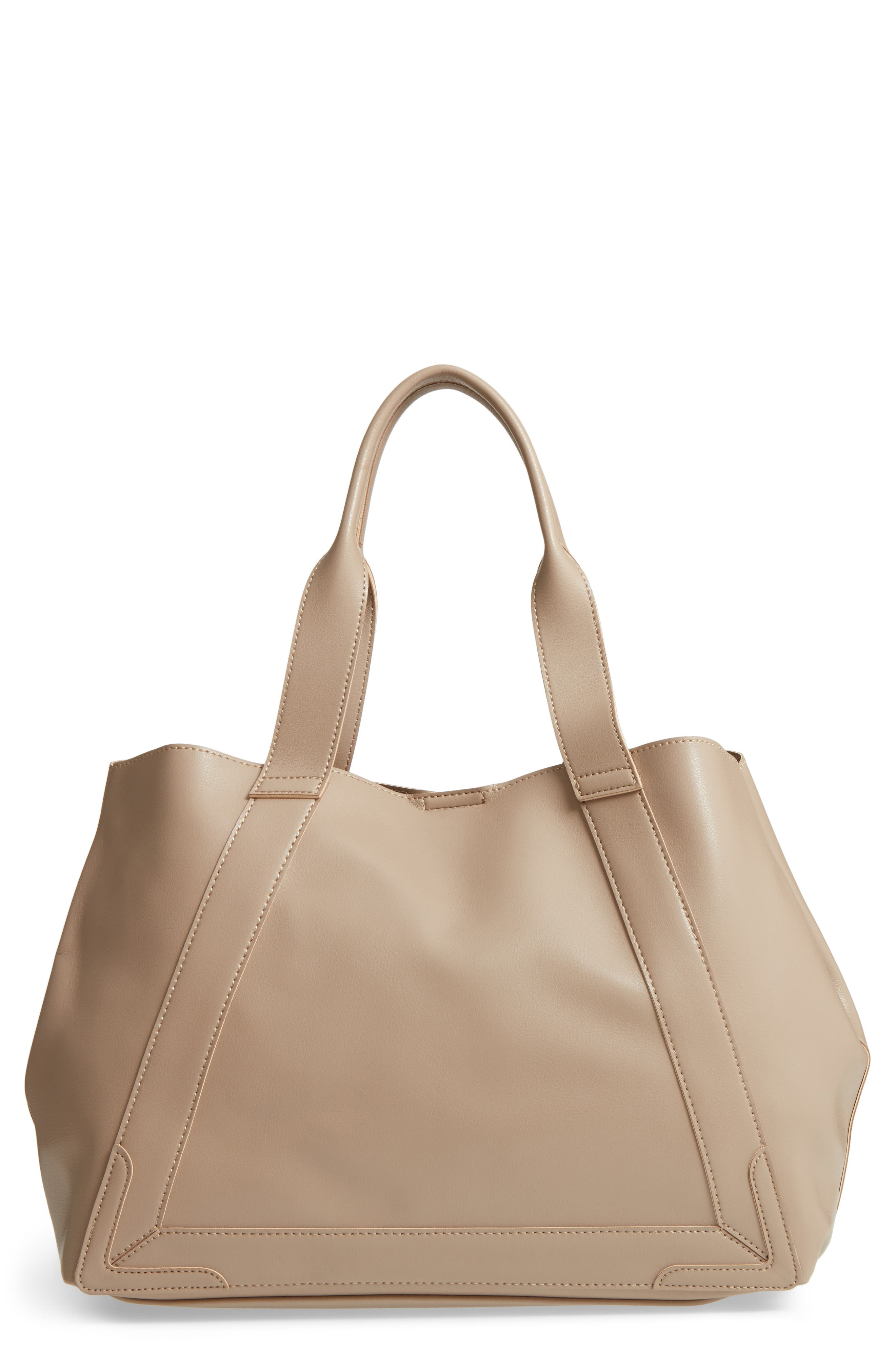 Decklan Faux Leather Tote,                         Main,                         color, 250