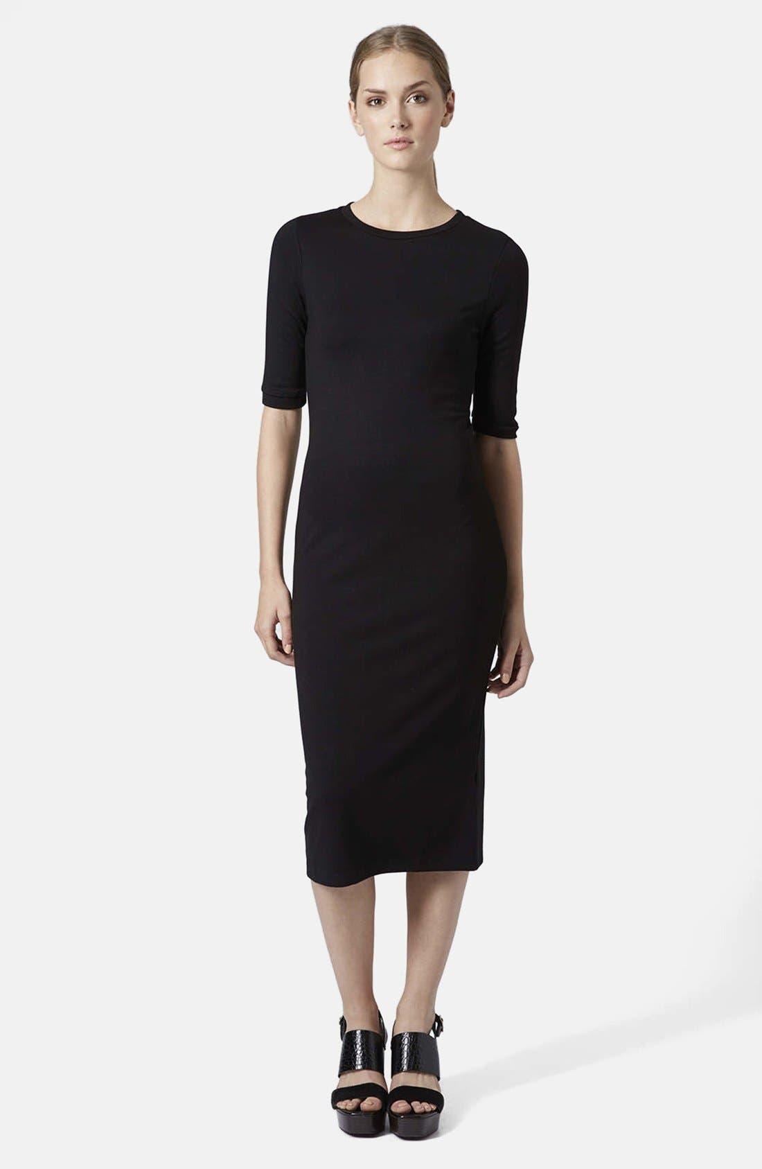 Body-Con Midi Dress,                         Main,                         color, 001