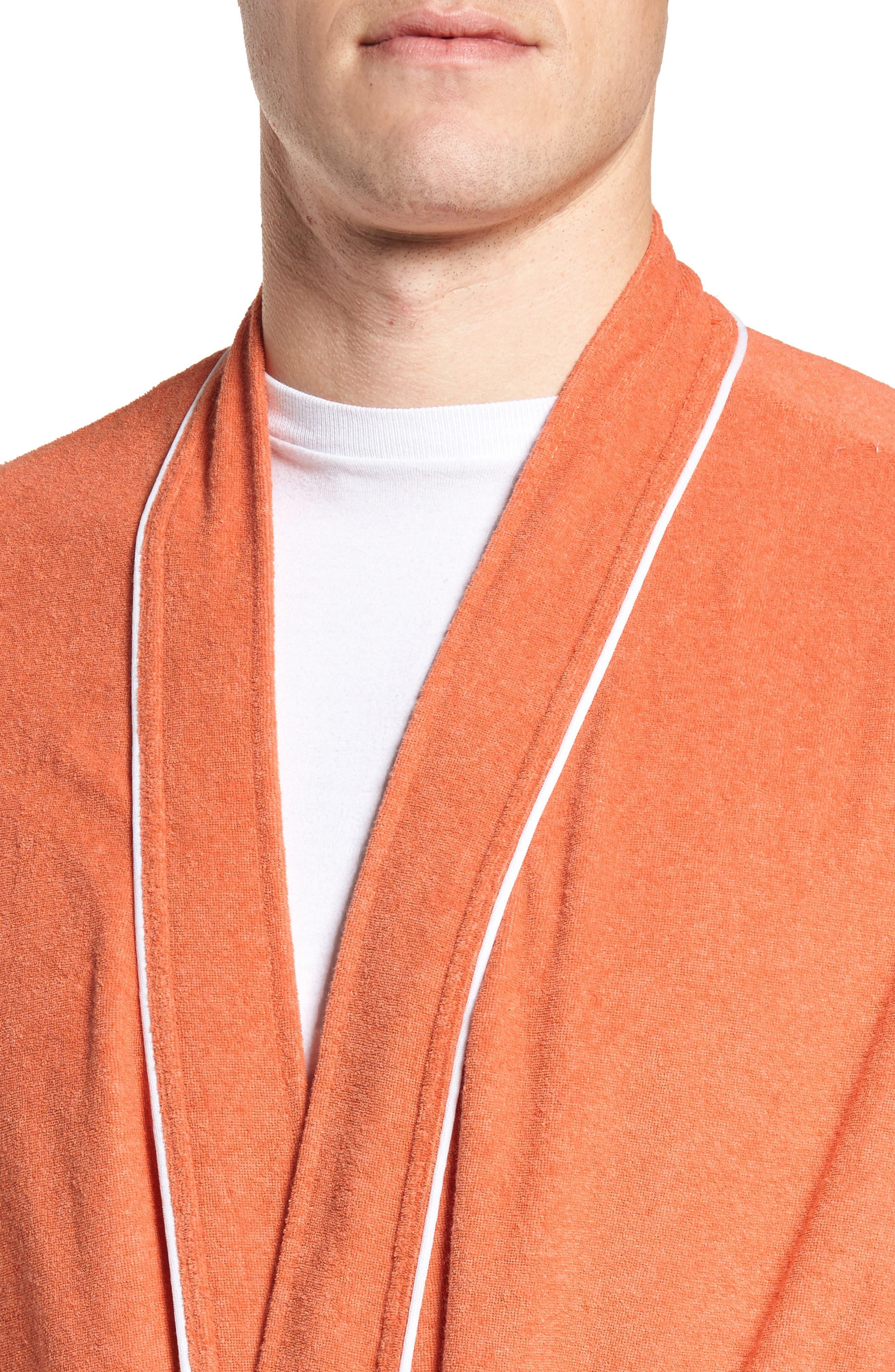 Kimono Cotton Blend Robe,                             Alternate thumbnail 8, color,