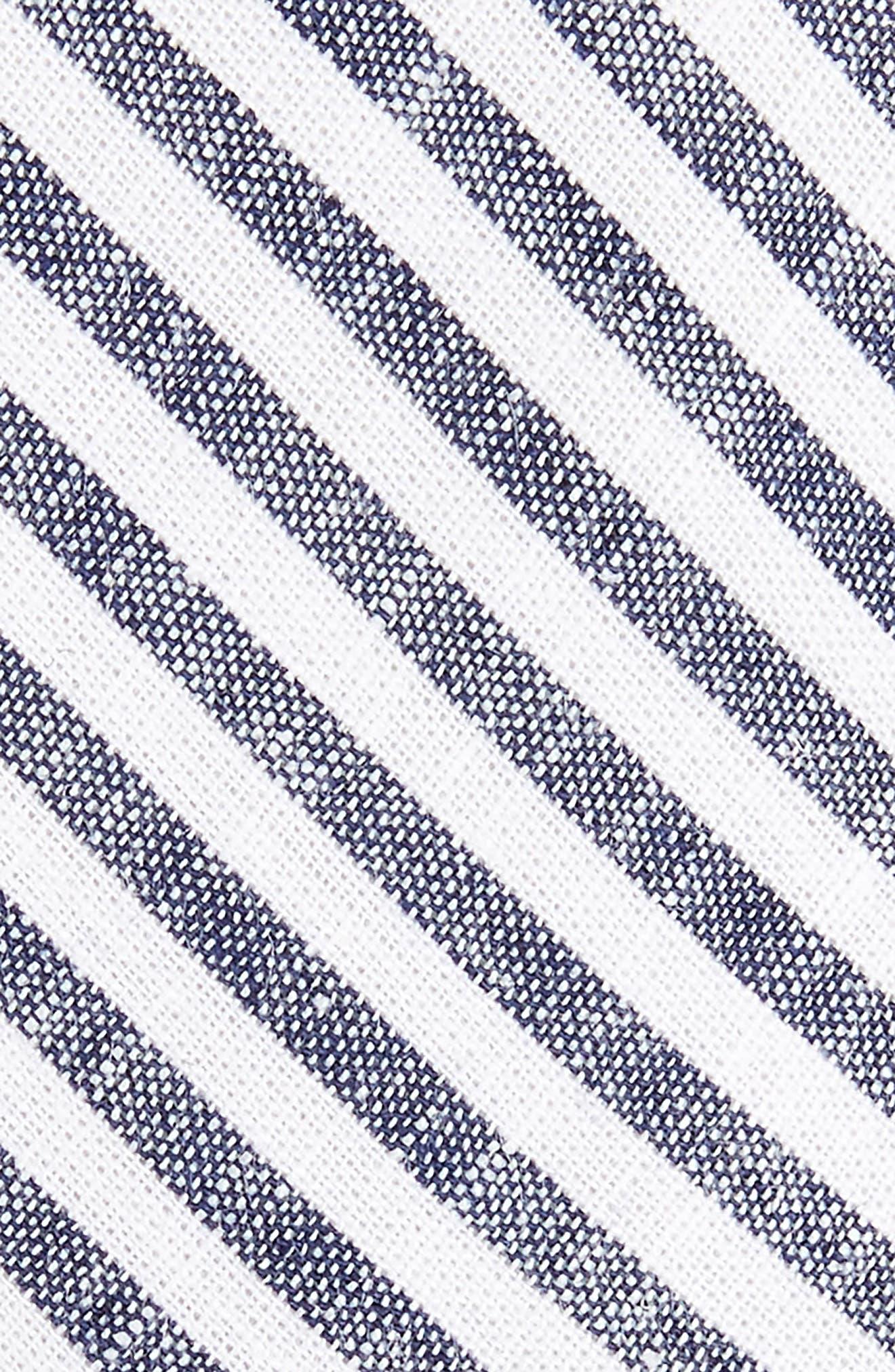 Stripe Cotton Tie,                             Alternate thumbnail 5, color,