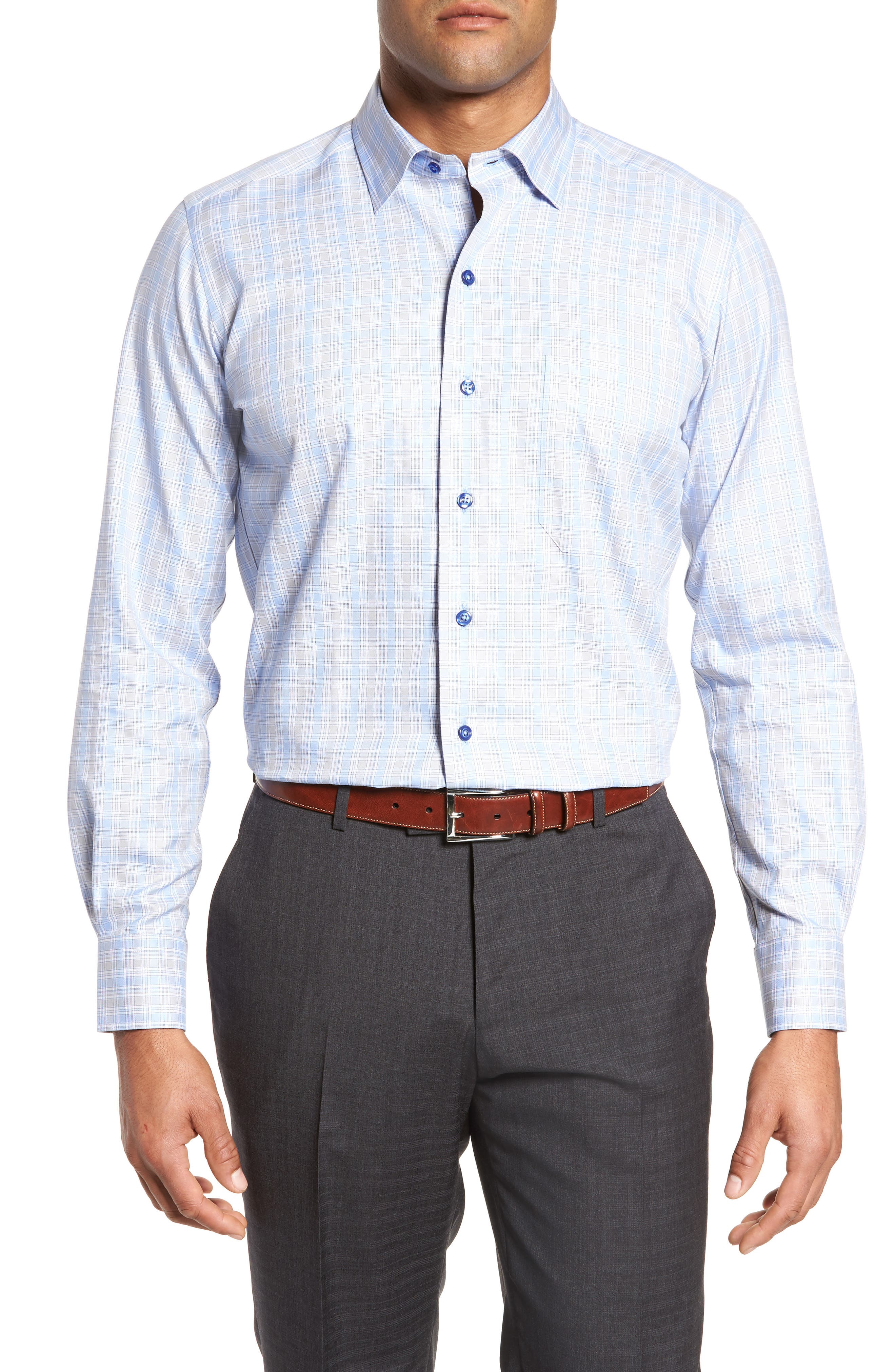Plaid Sport Shirt,                         Main,                         color,
