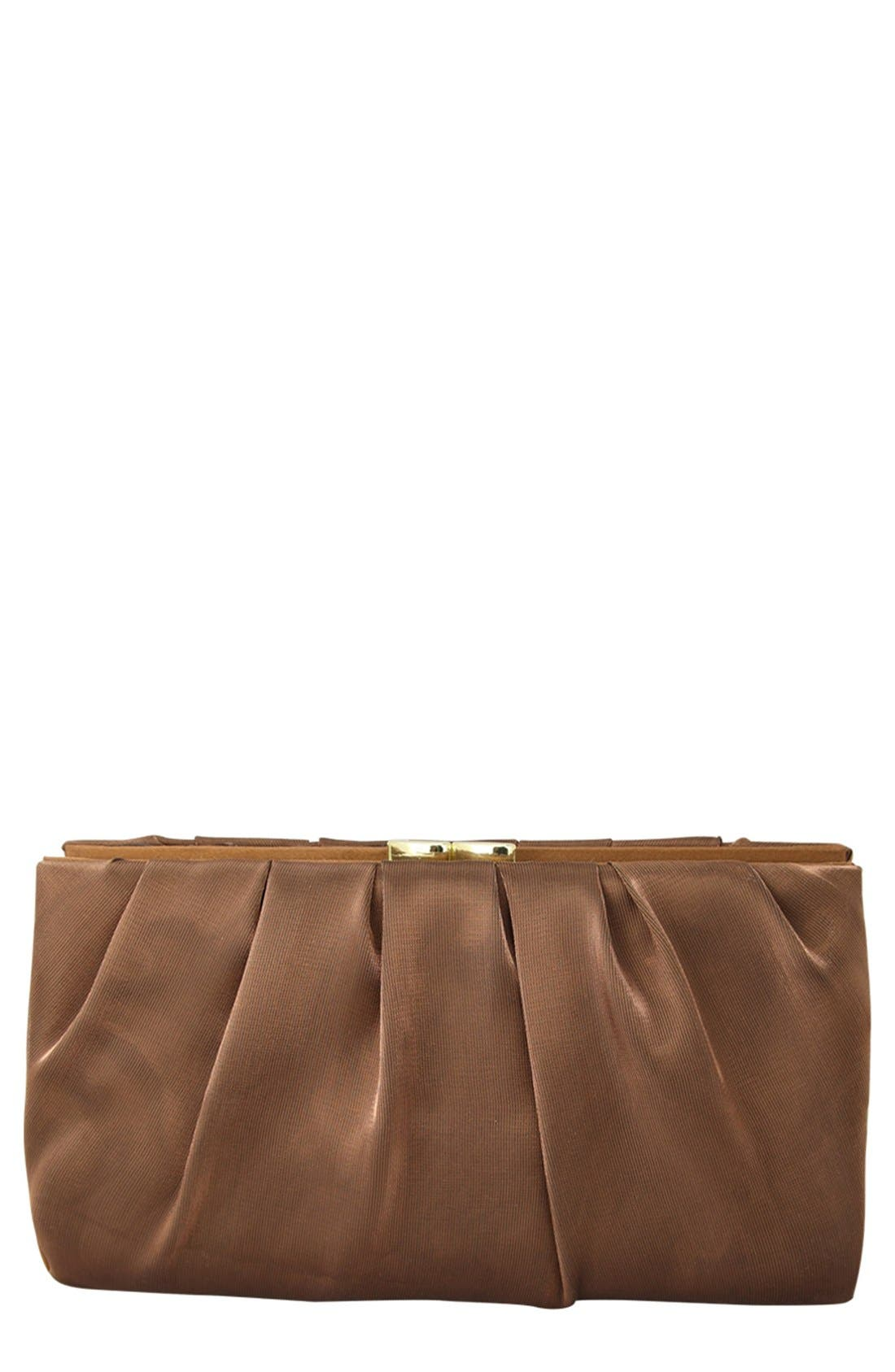 'Larry' Satin Clutch,                         Main,                         color, 200