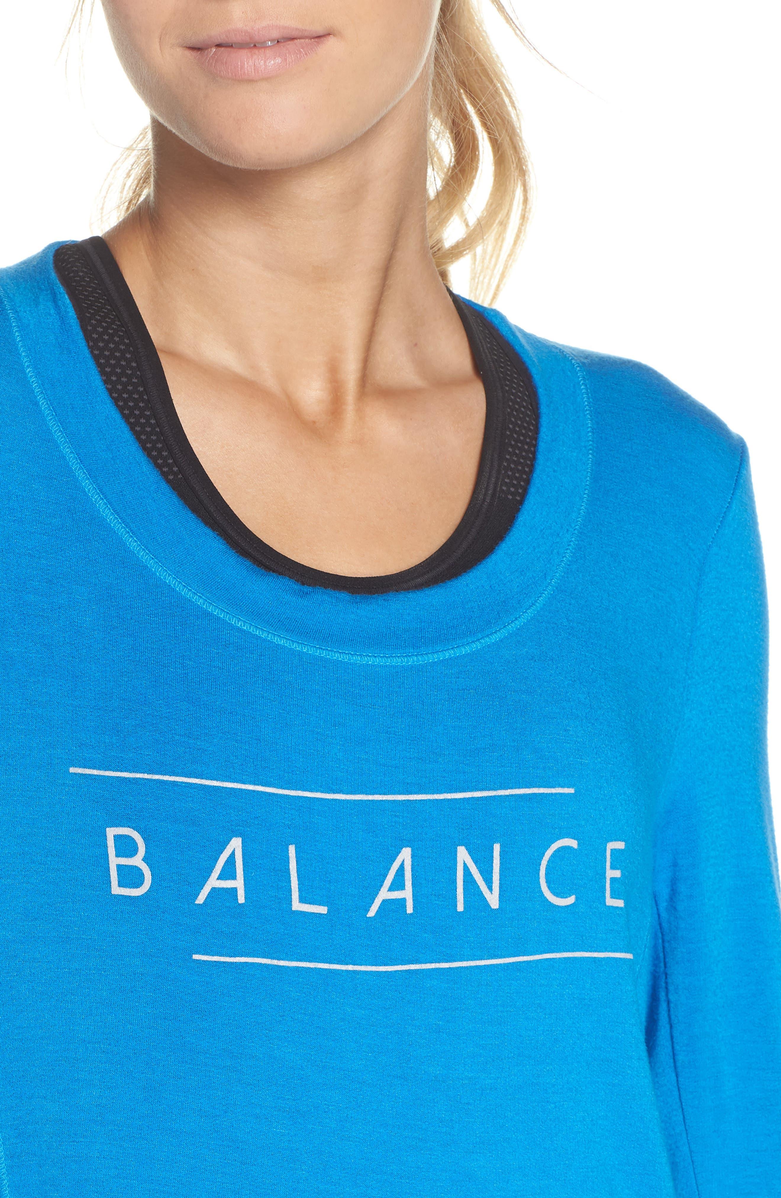 Jules Balance Sweatshirt,                             Alternate thumbnail 4, color,                             AZURE