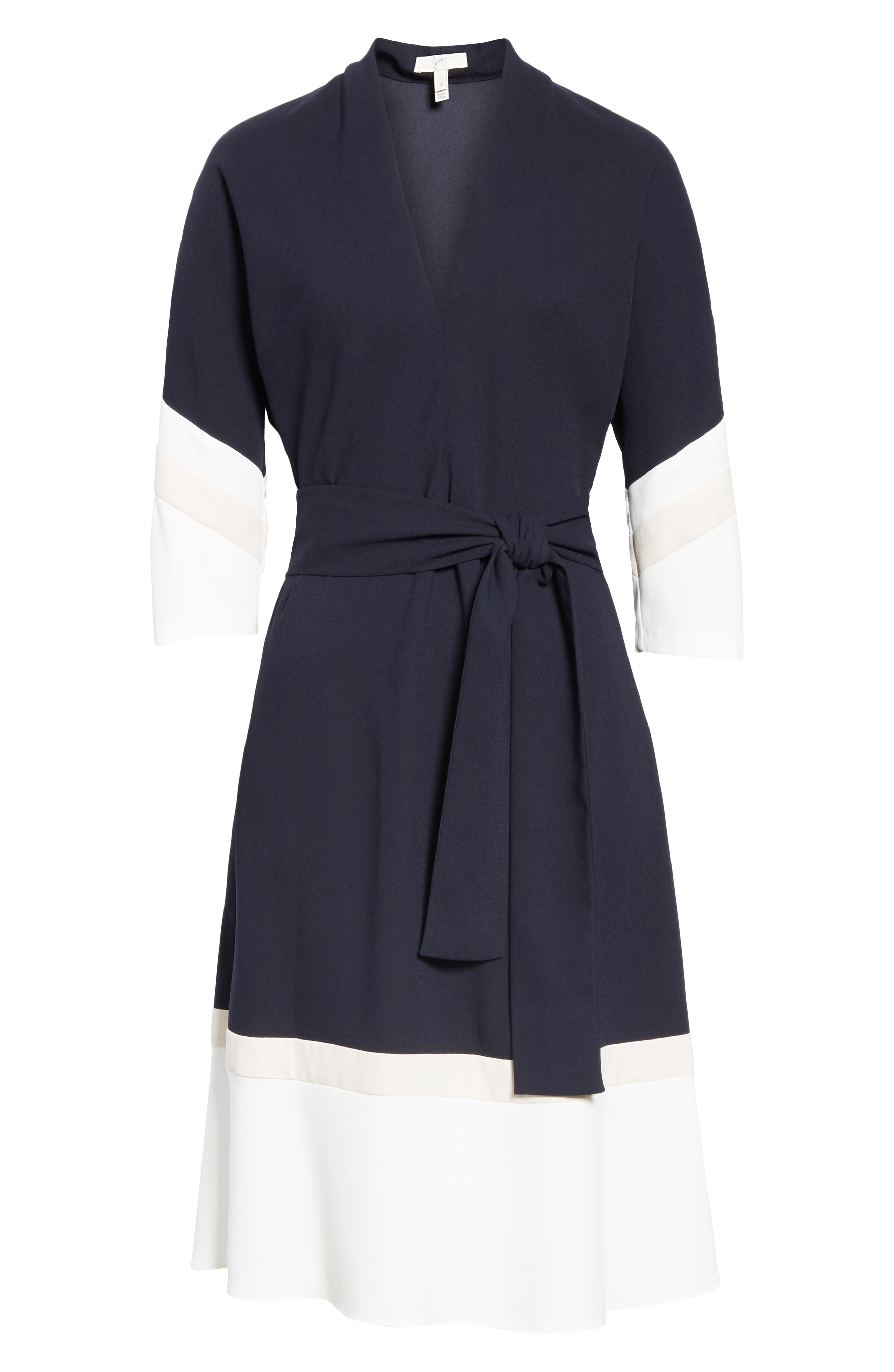 Aydrien Colorblock Dress,                             Alternate thumbnail 7, color,                             MID PORCELAIN-PINK SKY