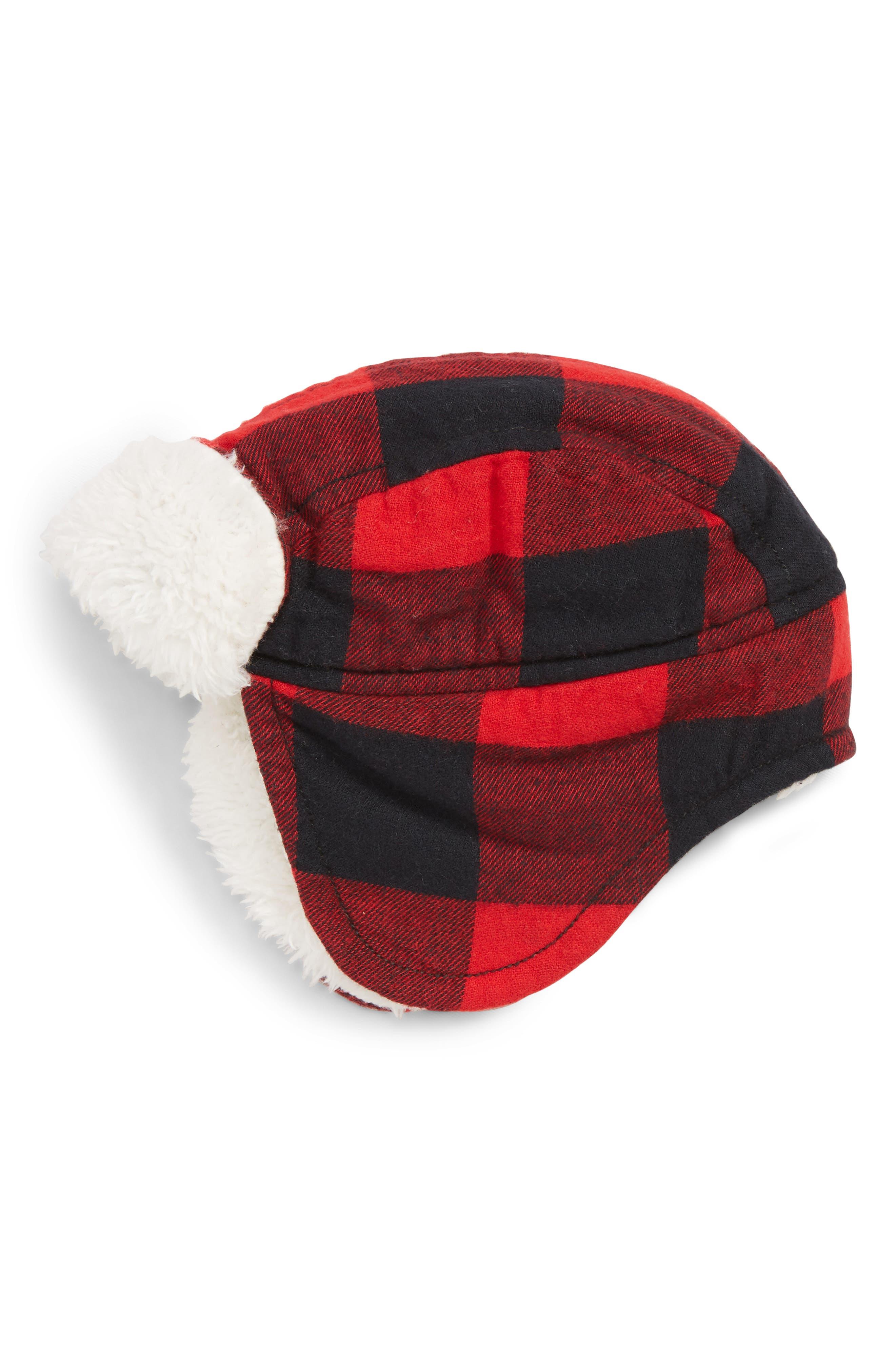 Flight Check Hat,                             Main thumbnail 1, color,                             RED PEPPER BUFFALO CHECK