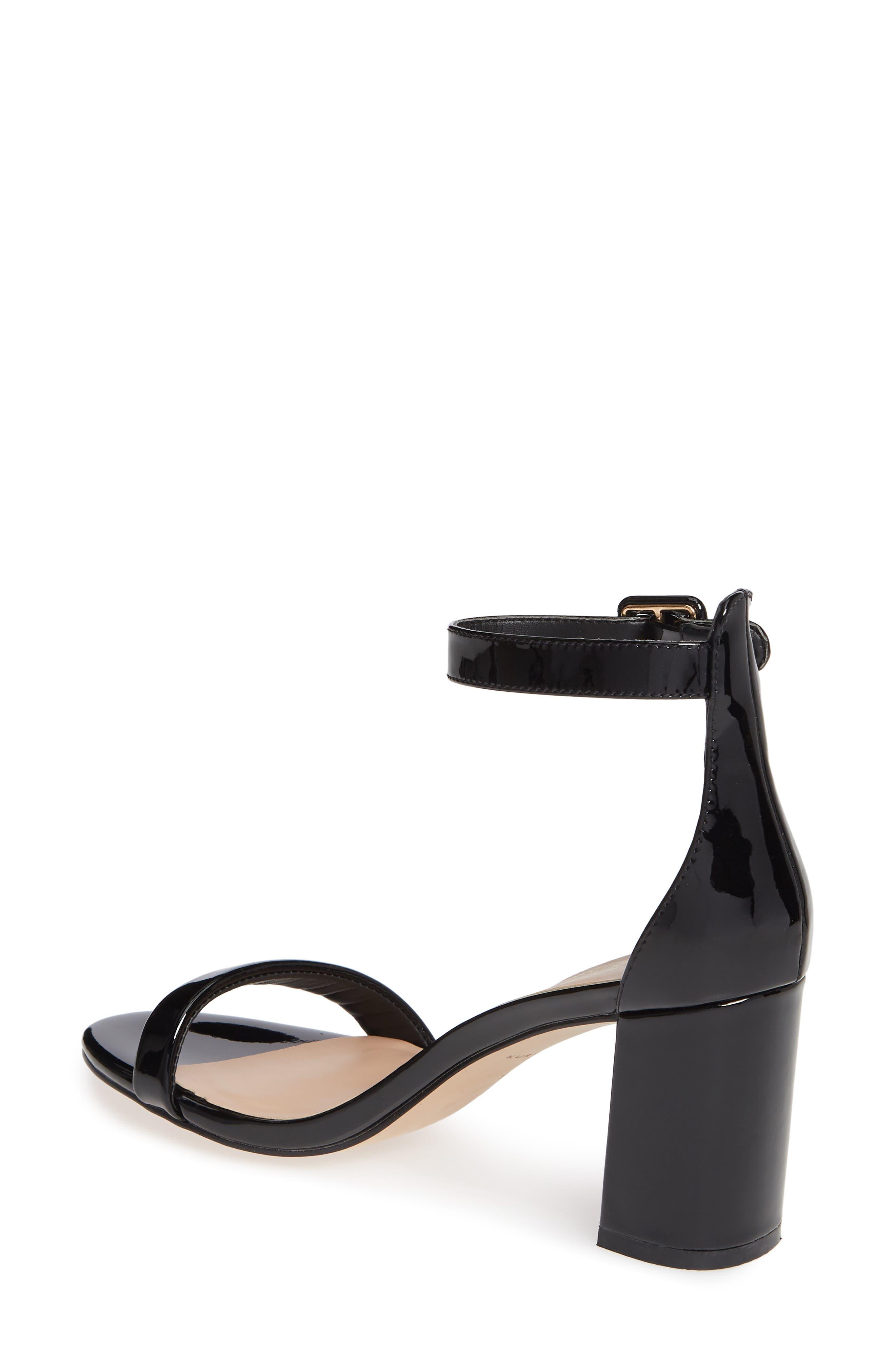 Langley Ankle Strap Sandal,                             Alternate thumbnail 2, color,                             BLACK LEATHER