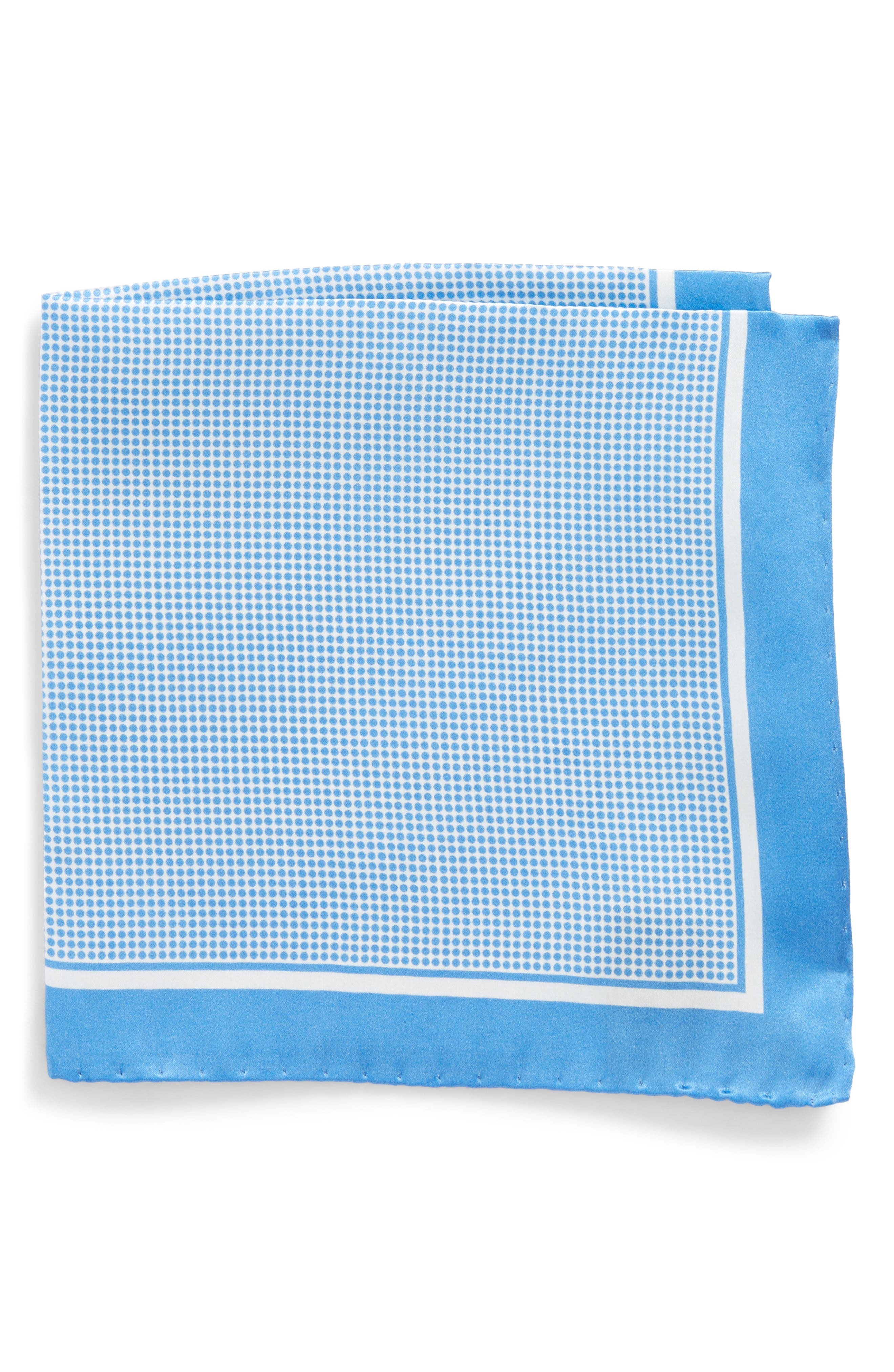 Dot Silk Pocket Square,                         Main,                         color,