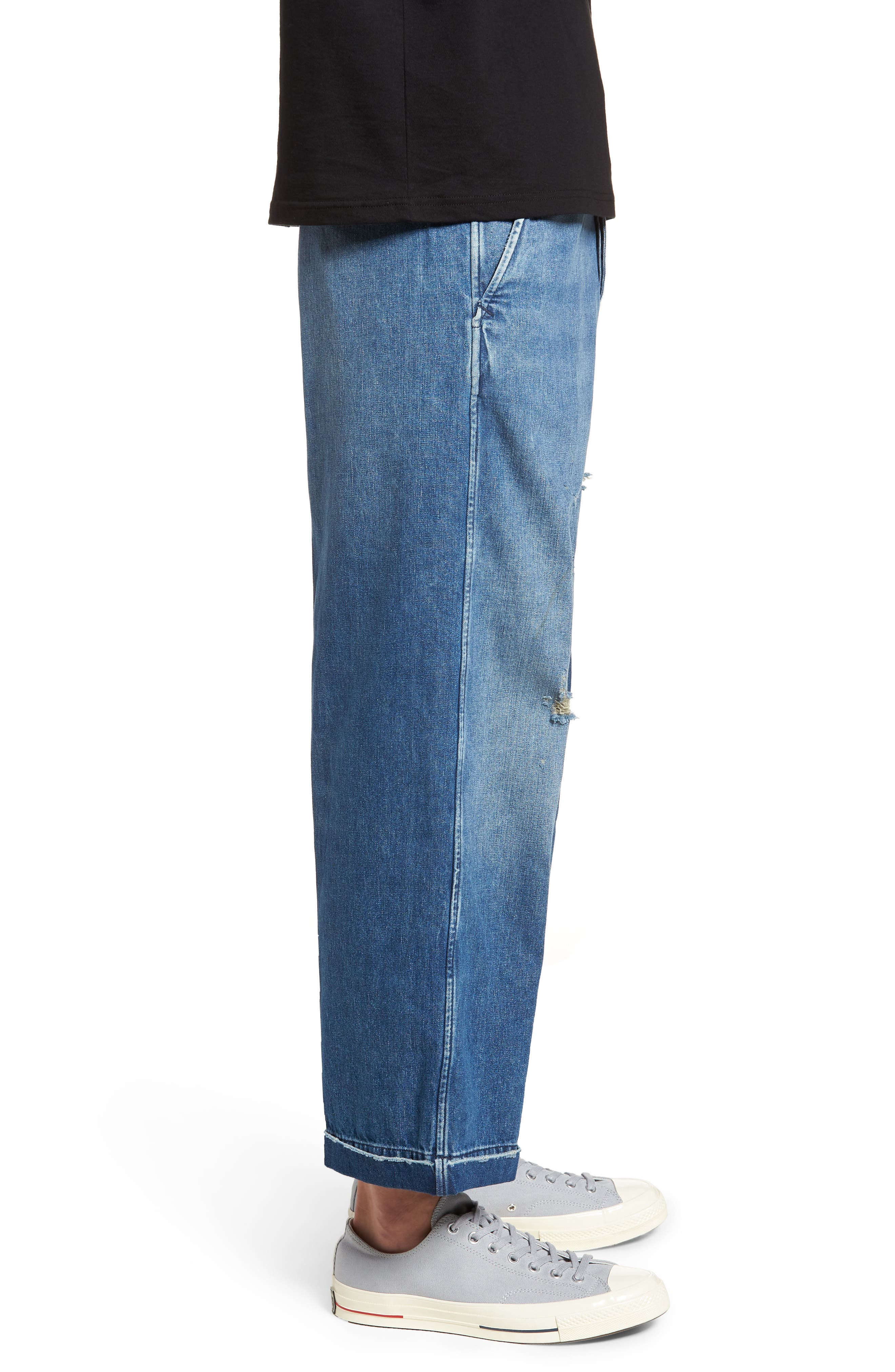 1920s Balloon Jeans,                             Alternate thumbnail 3, color,                             420