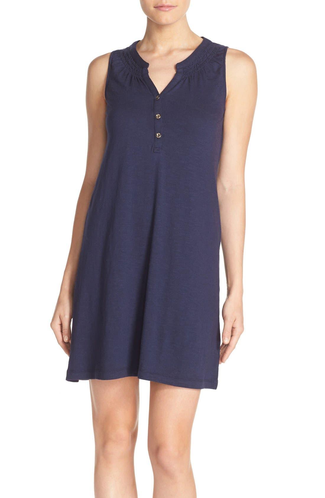 'Essie' Cotton & Modal A-Line Dress, Main, color, 408