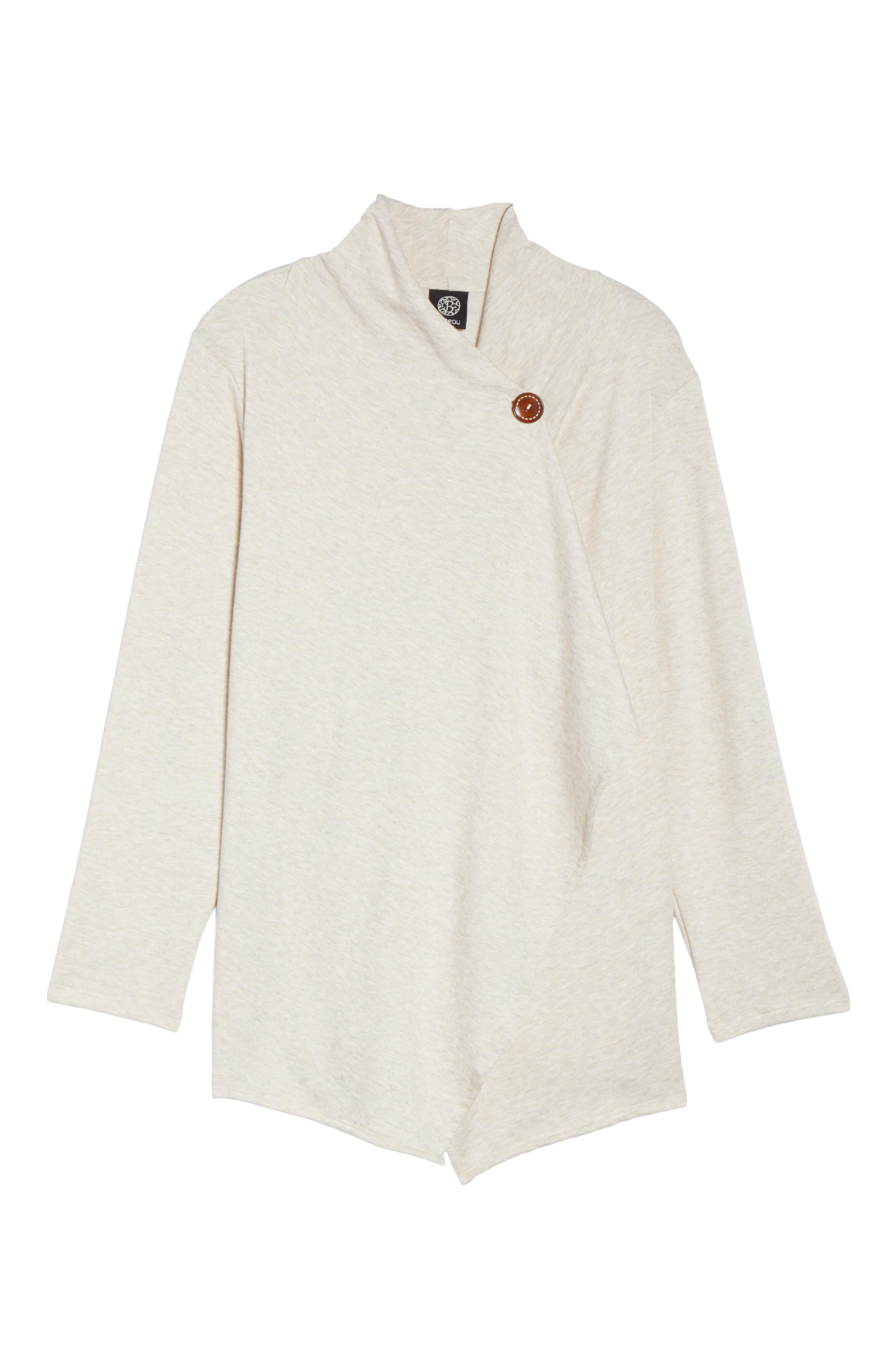 One-Button Fleece Cardigan,                             Alternate thumbnail 197, color,