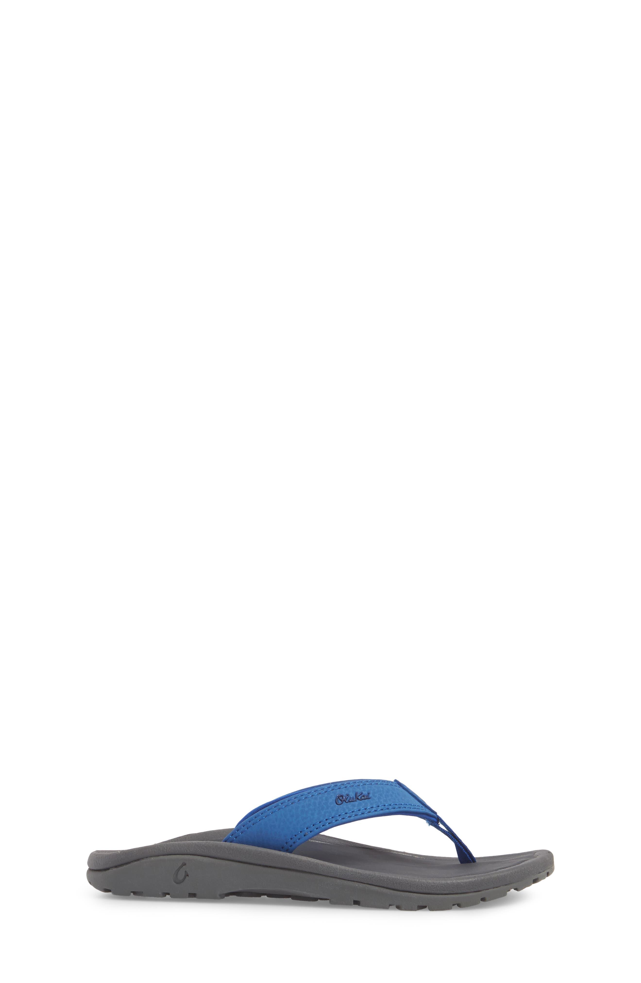 'Ohana' Sandal,                             Alternate thumbnail 3, color,                             AQUA BLUE/ DARK SHADOW