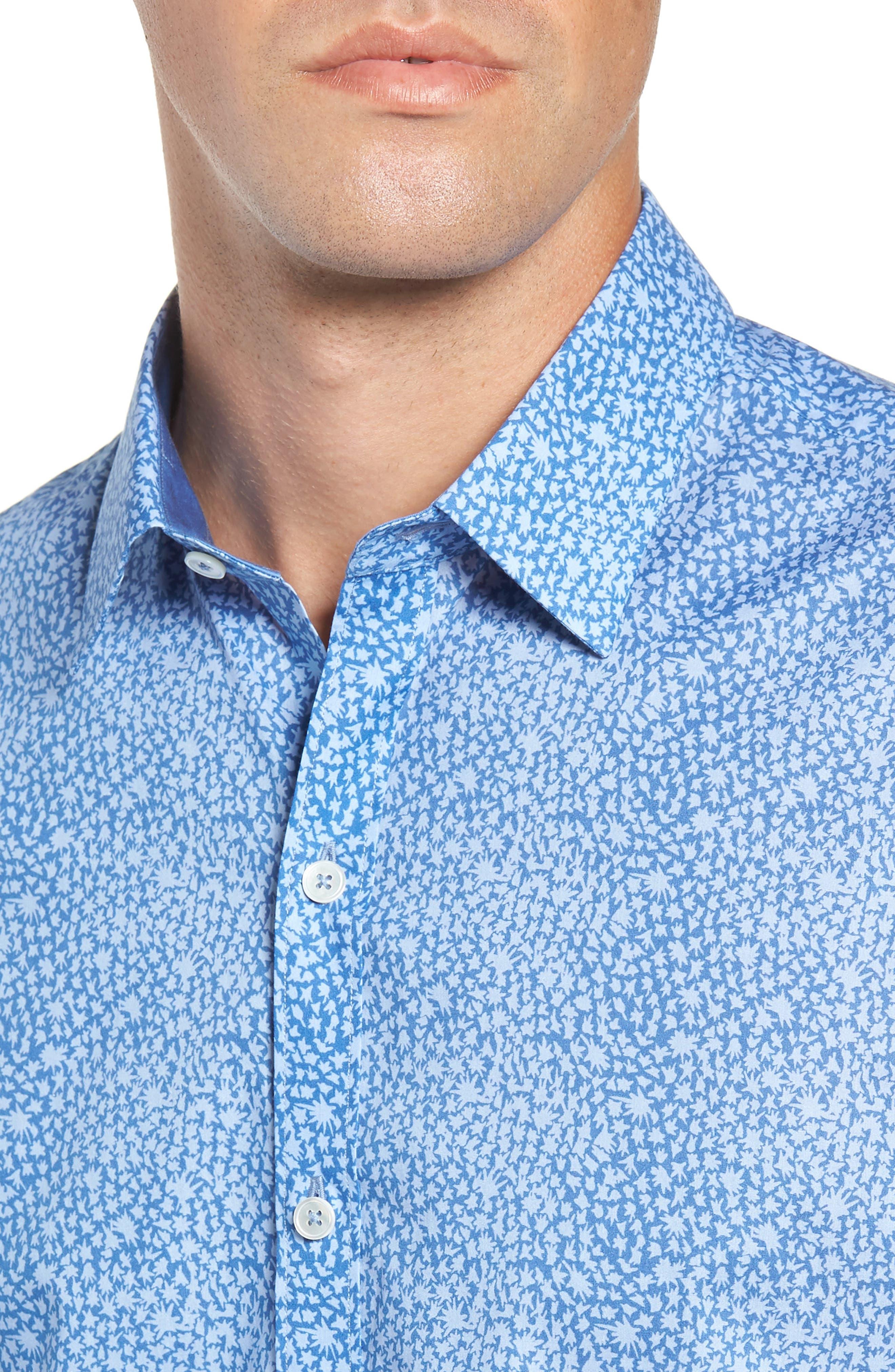 ZACHARY PRELL,                             Elliot Regular Fit Sport Shirt,                             Alternate thumbnail 2, color,                             OCEAN