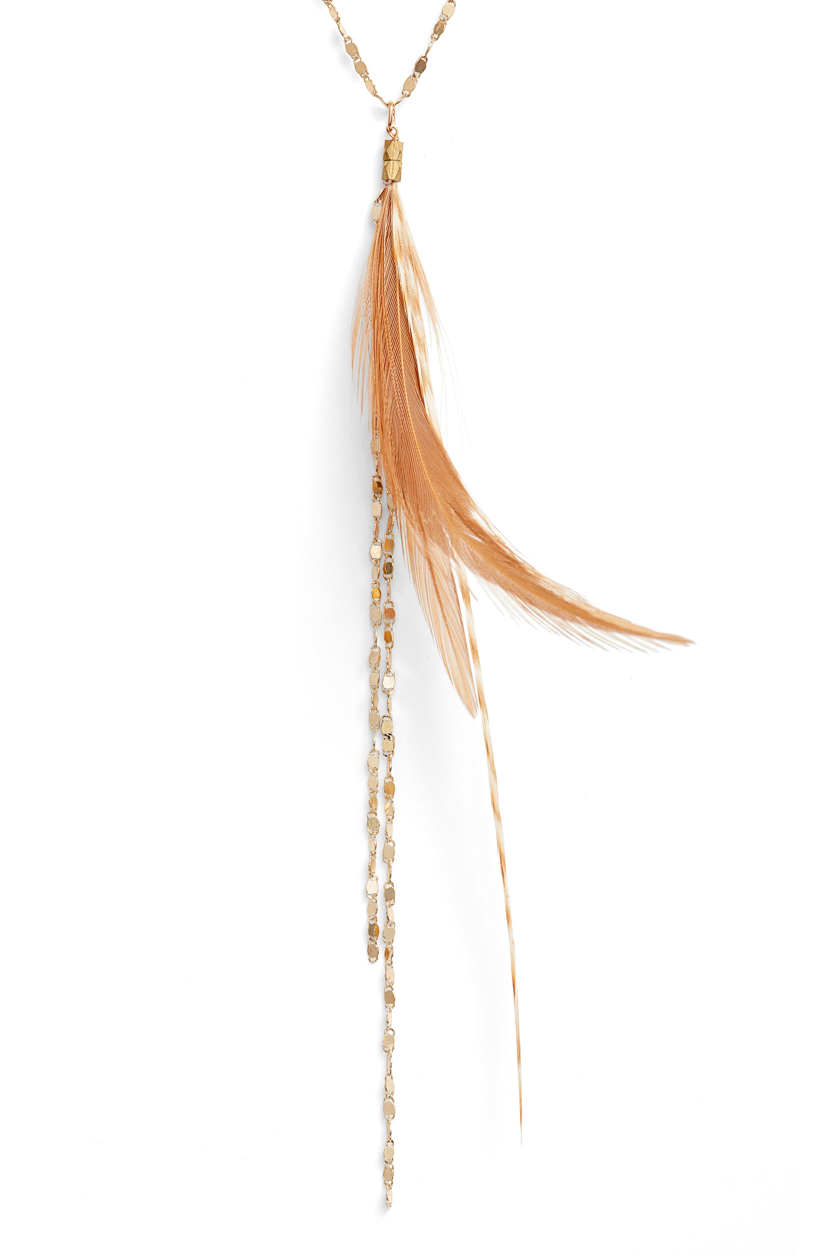 Glistening Feather Y Necklace,                             Main thumbnail 2, color,