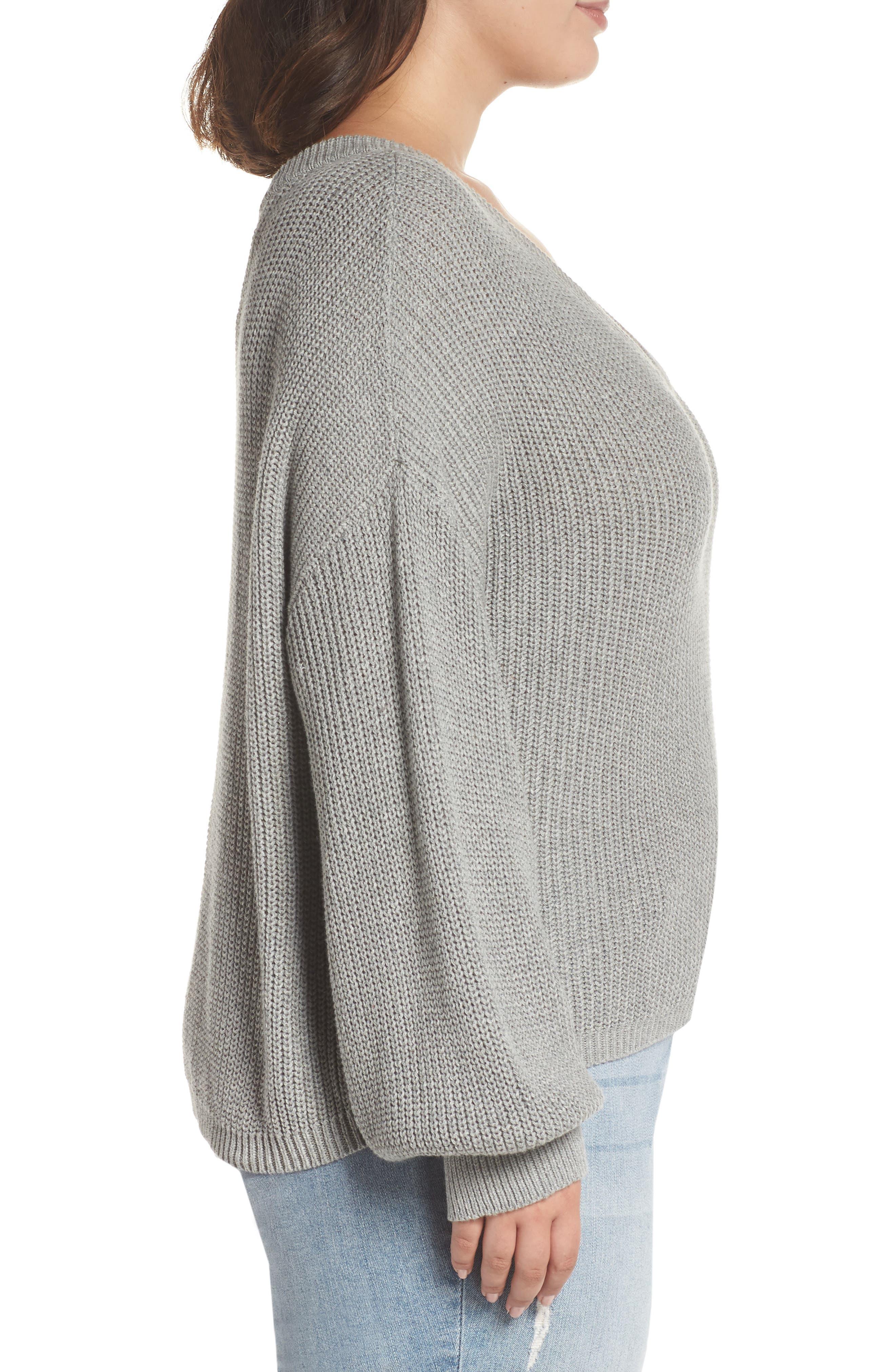 V Neck Cotton Sweater,                             Alternate thumbnail 9, color,                             030