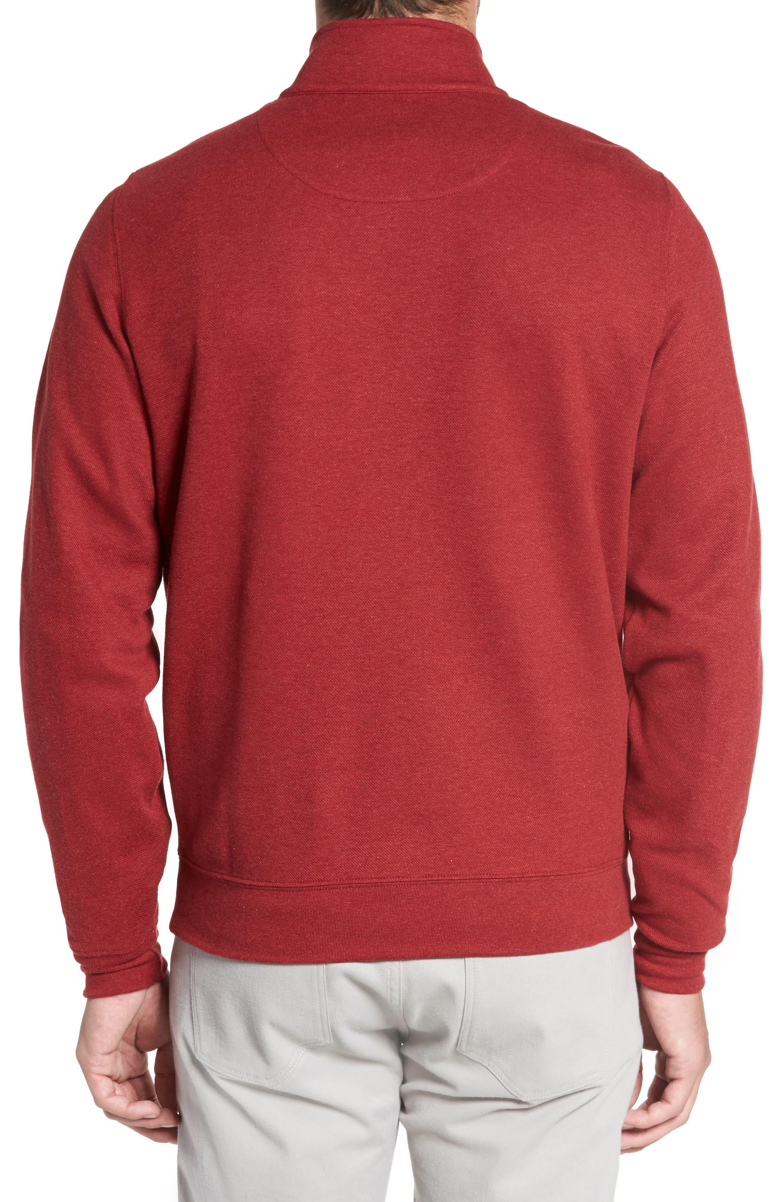 Mélange Quarter Zip Pullover,                             Alternate thumbnail 6, color,